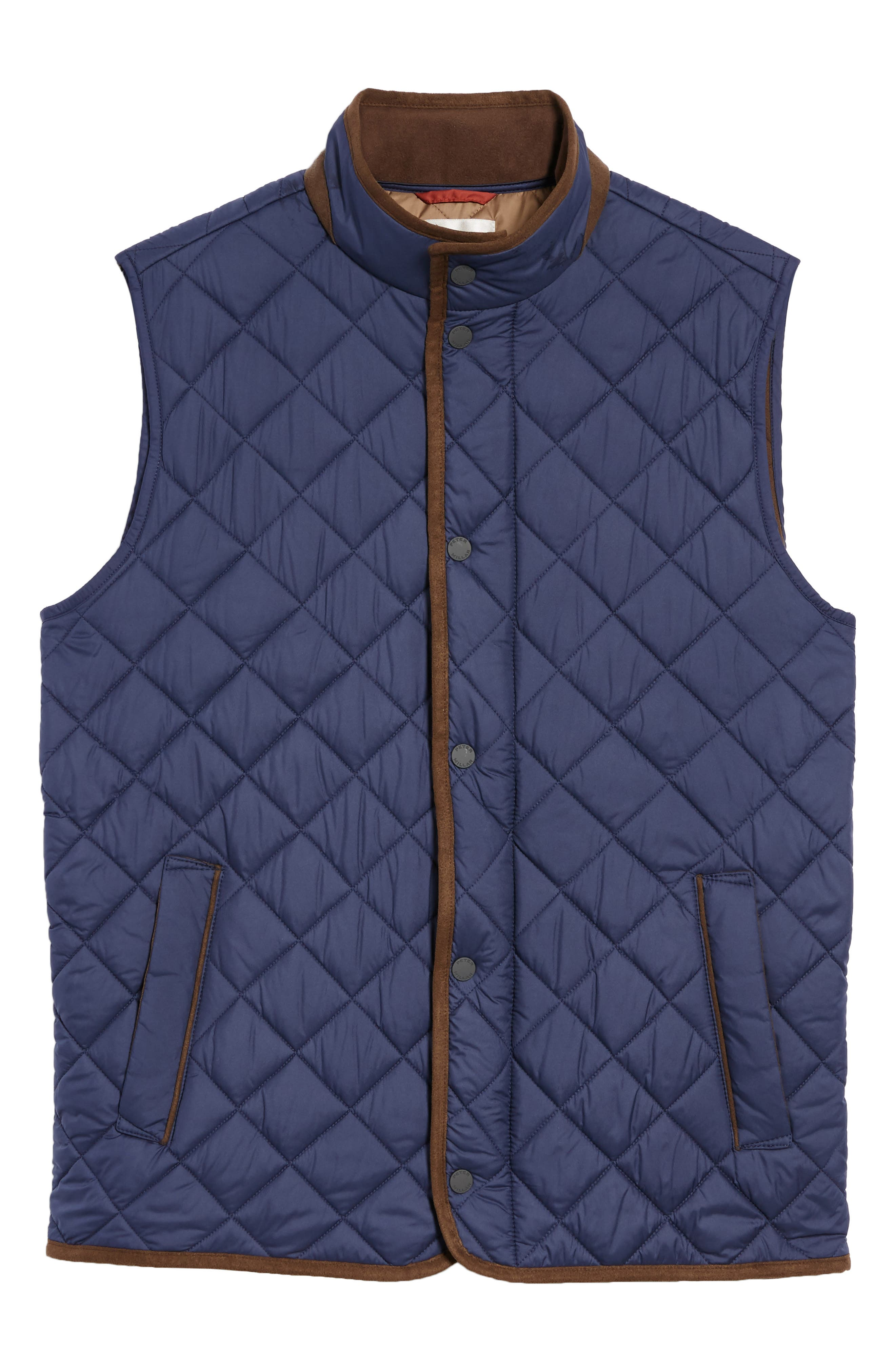 Essex Quilted Vest,                             Alternate thumbnail 6, color,                             Perfect Navy