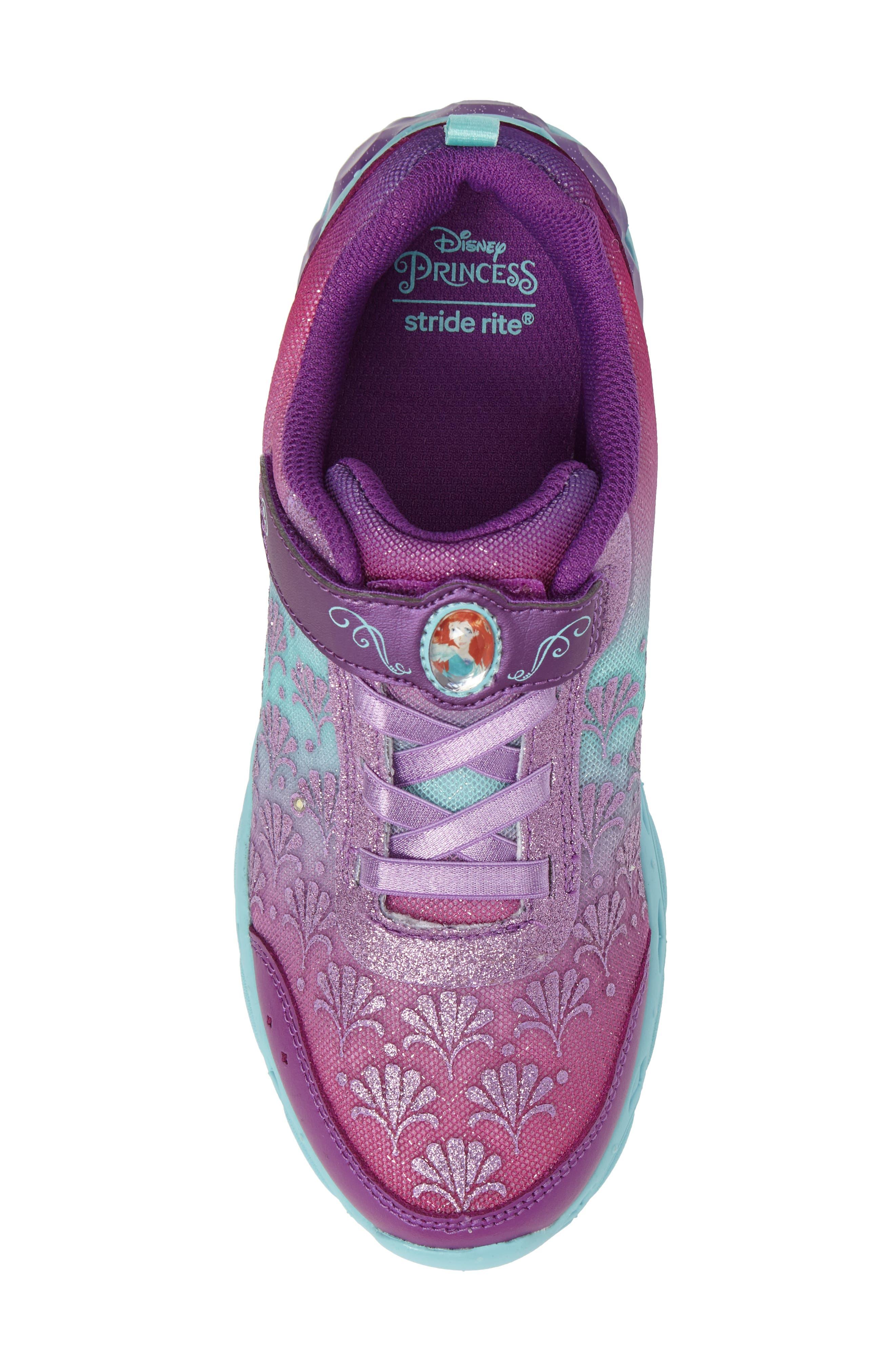 Alternate Image 5  - Stride Rite Disney® Ariel Ocean Adventurer Light-Up Sneaker (Walker, Toddler & Little Kid)