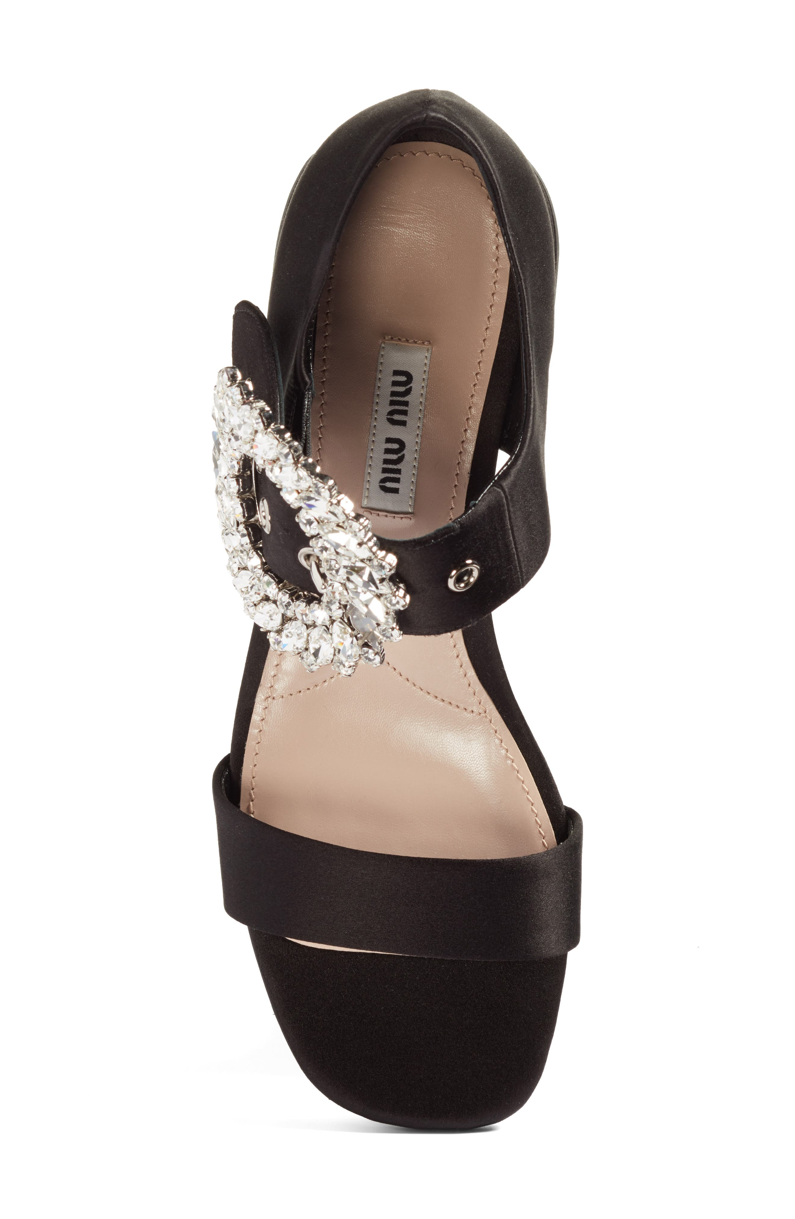 Alternate Image 5  - Miu Miu Crystal Buckle Mary Jane Sandal (Women)