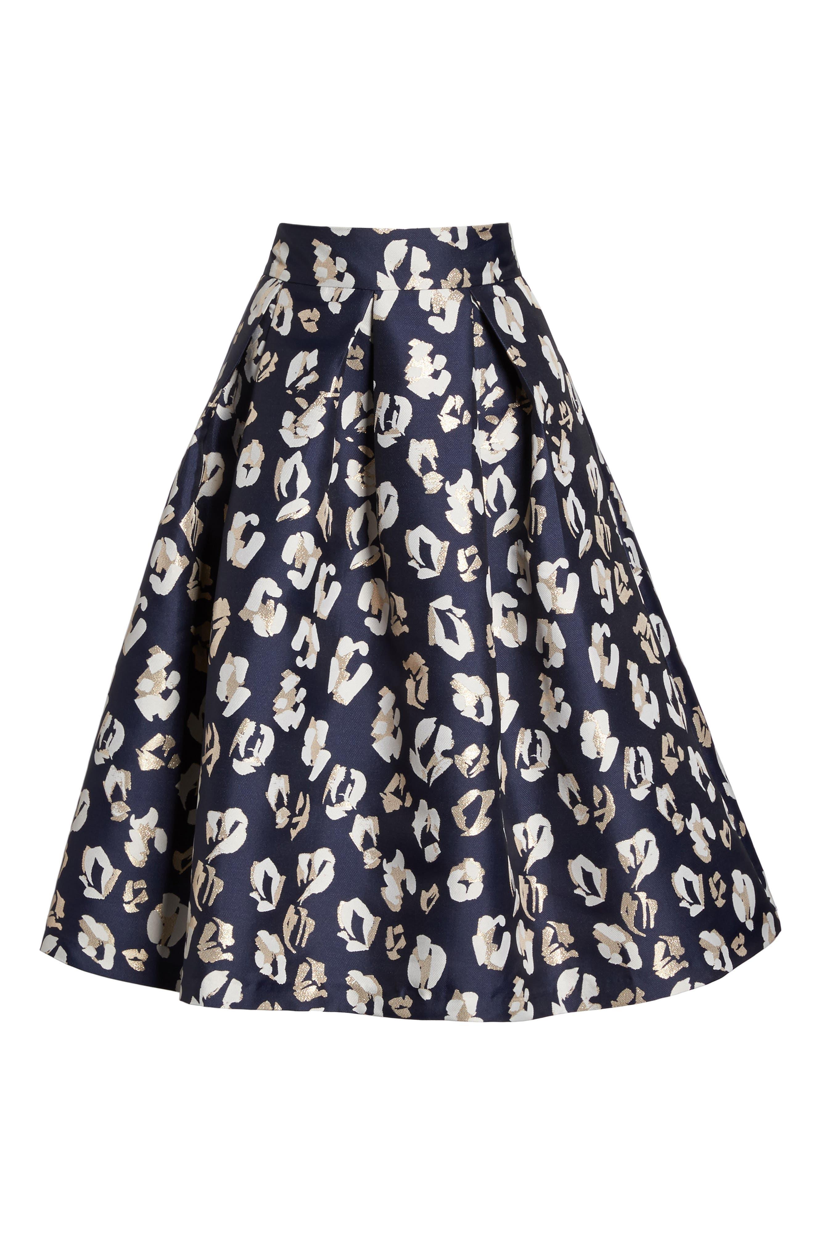 Alternate Image 7  - Eliza J Pleated Abstract Jacquard Skirt