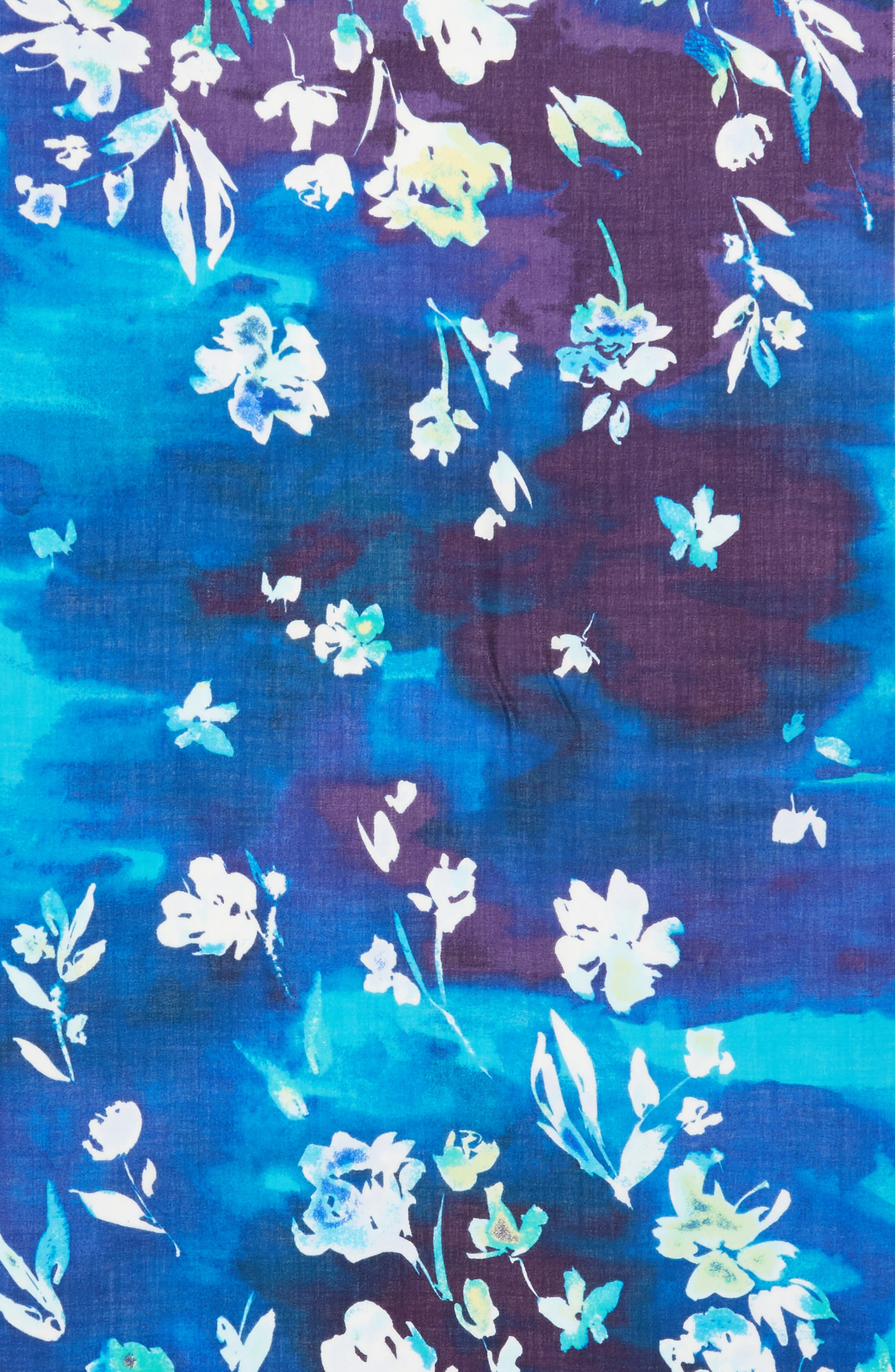 Alternate Image 4  - Nordstrom Musical Flower Cashmere & Silk Scarf