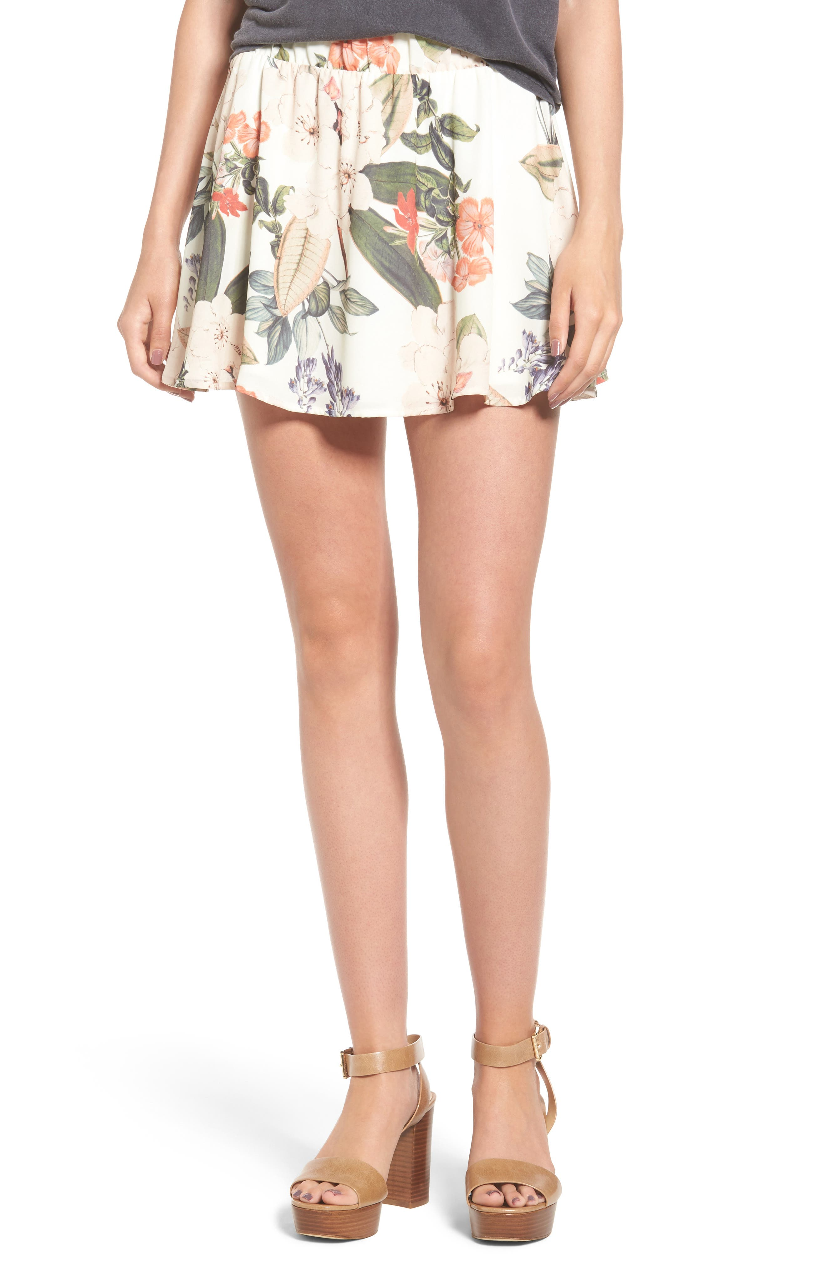 Carlita Miniskirt,                             Main thumbnail 1, color,                             Enchanted Florist