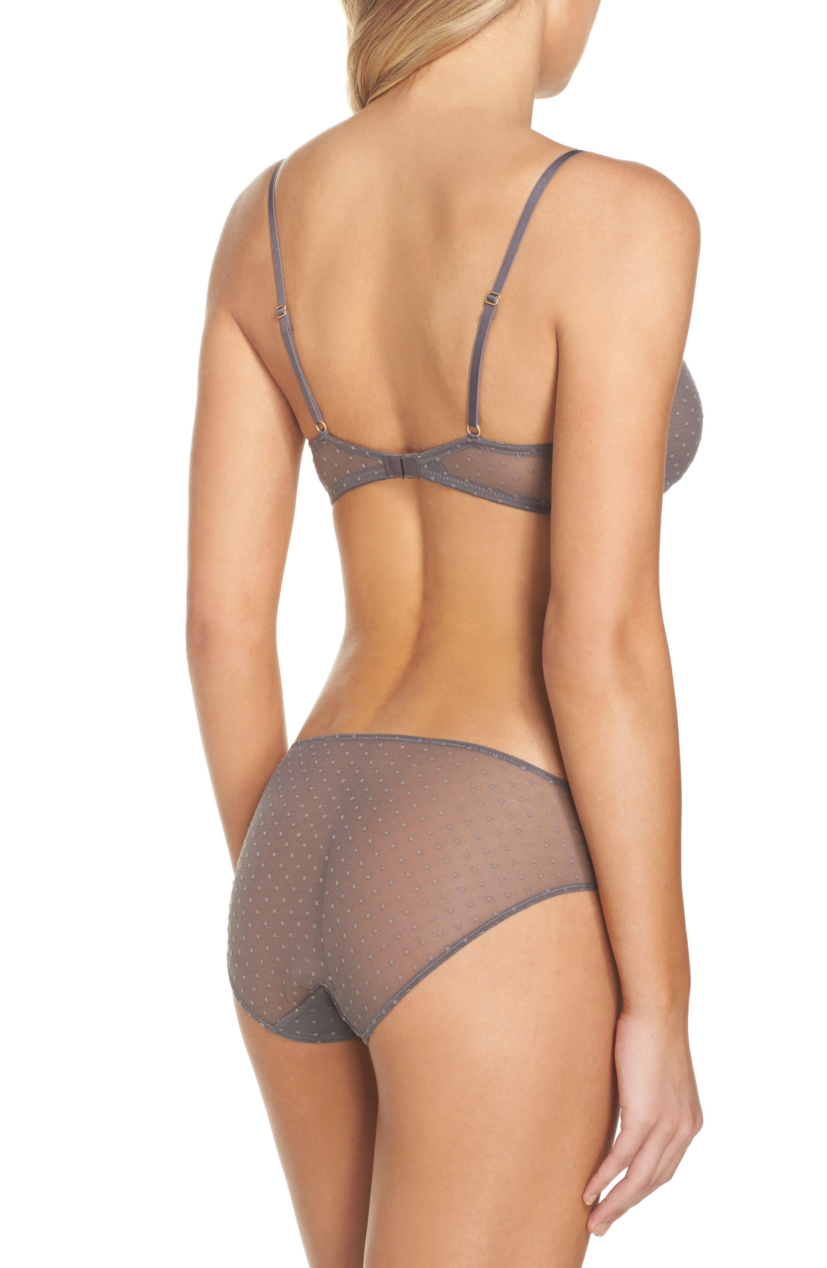 Swiss Dot Bikini,                             Alternate thumbnail 6, color,                             Grey Evening