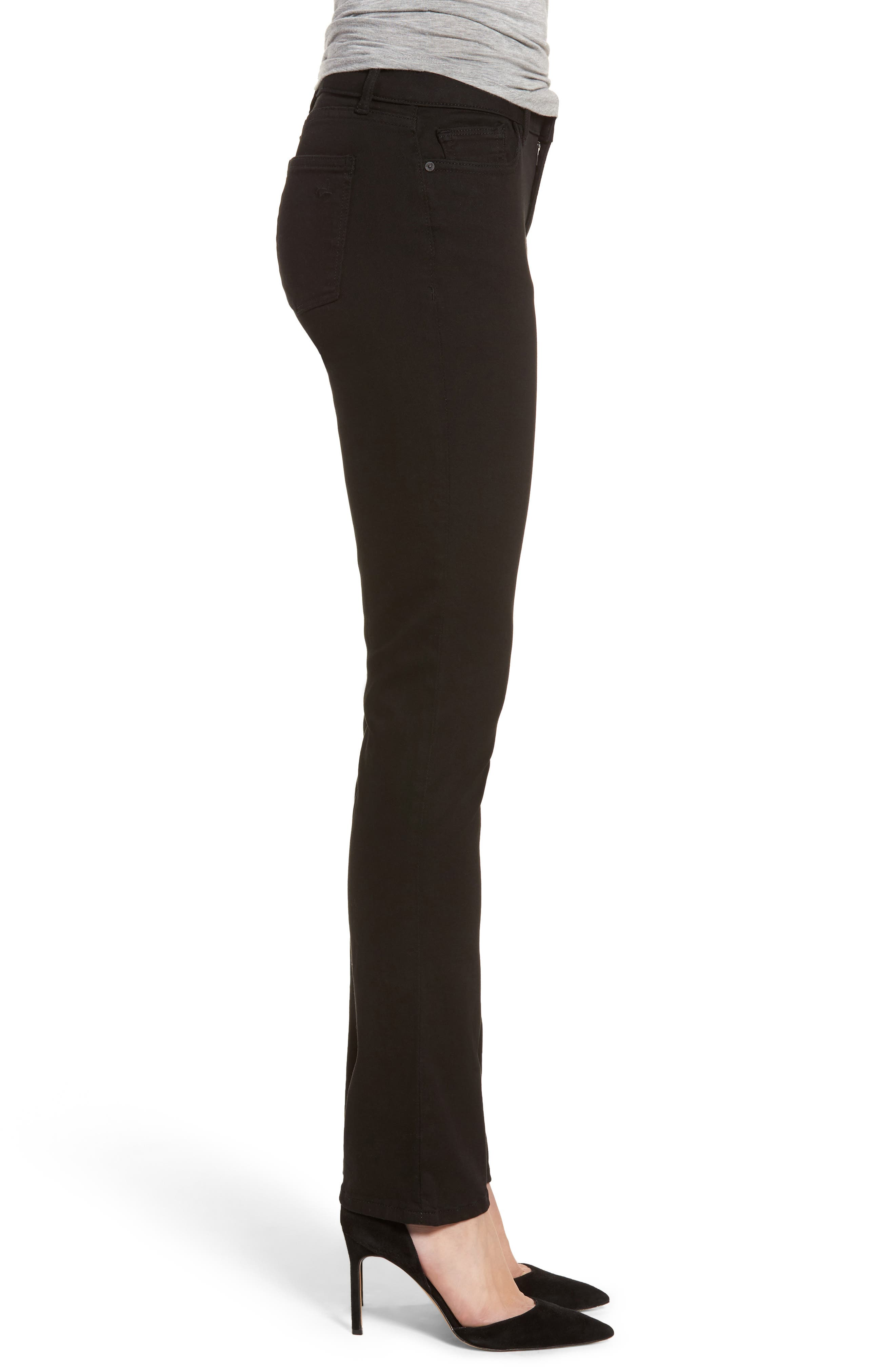 Coco Curvy Straight Leg Jeans,                             Alternate thumbnail 3, color,                             Hail