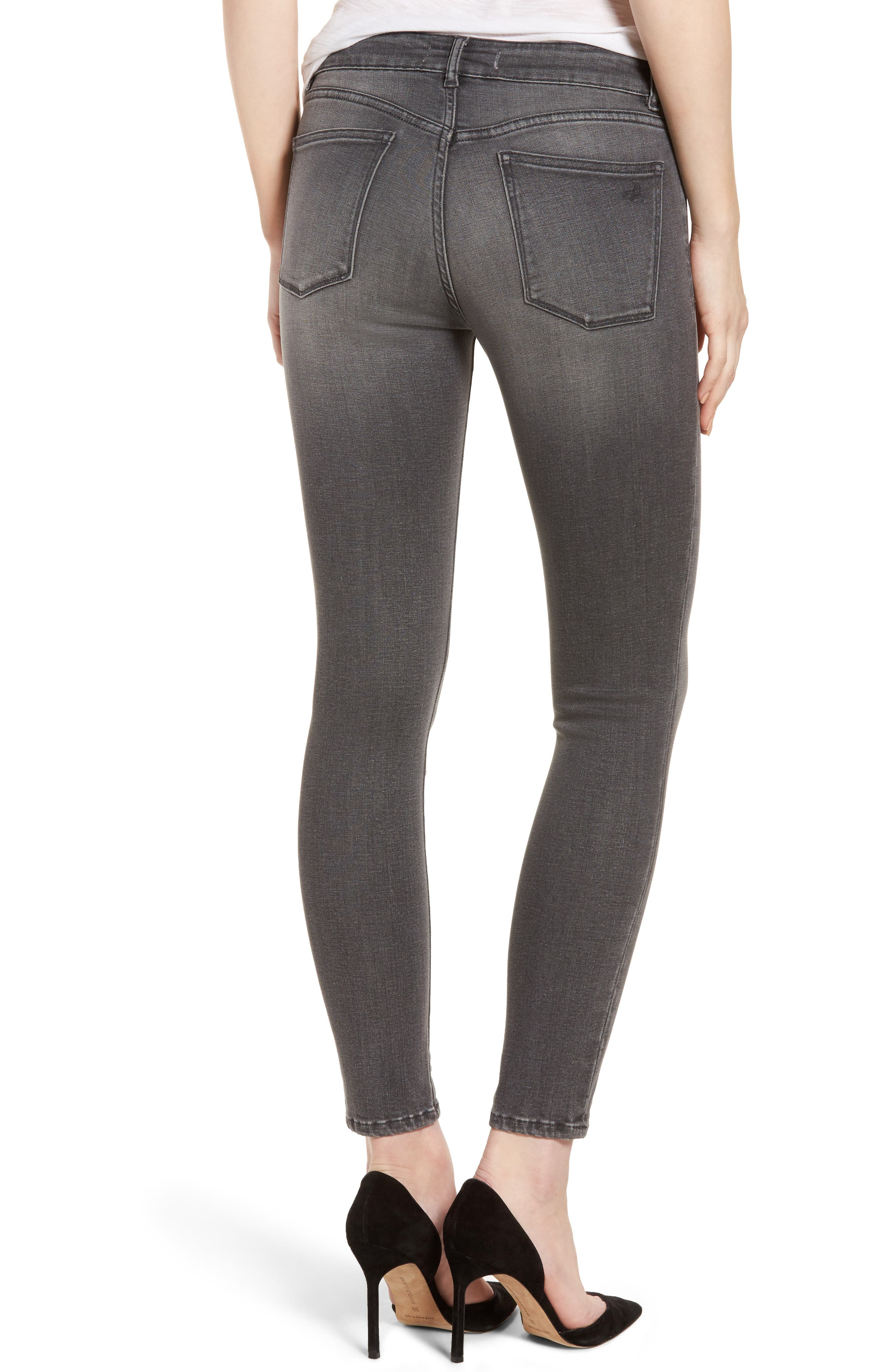 Alternate Image 2  - DL1961 Margaux Instasculpt Ankle Skinny Jeans (Drizzle)