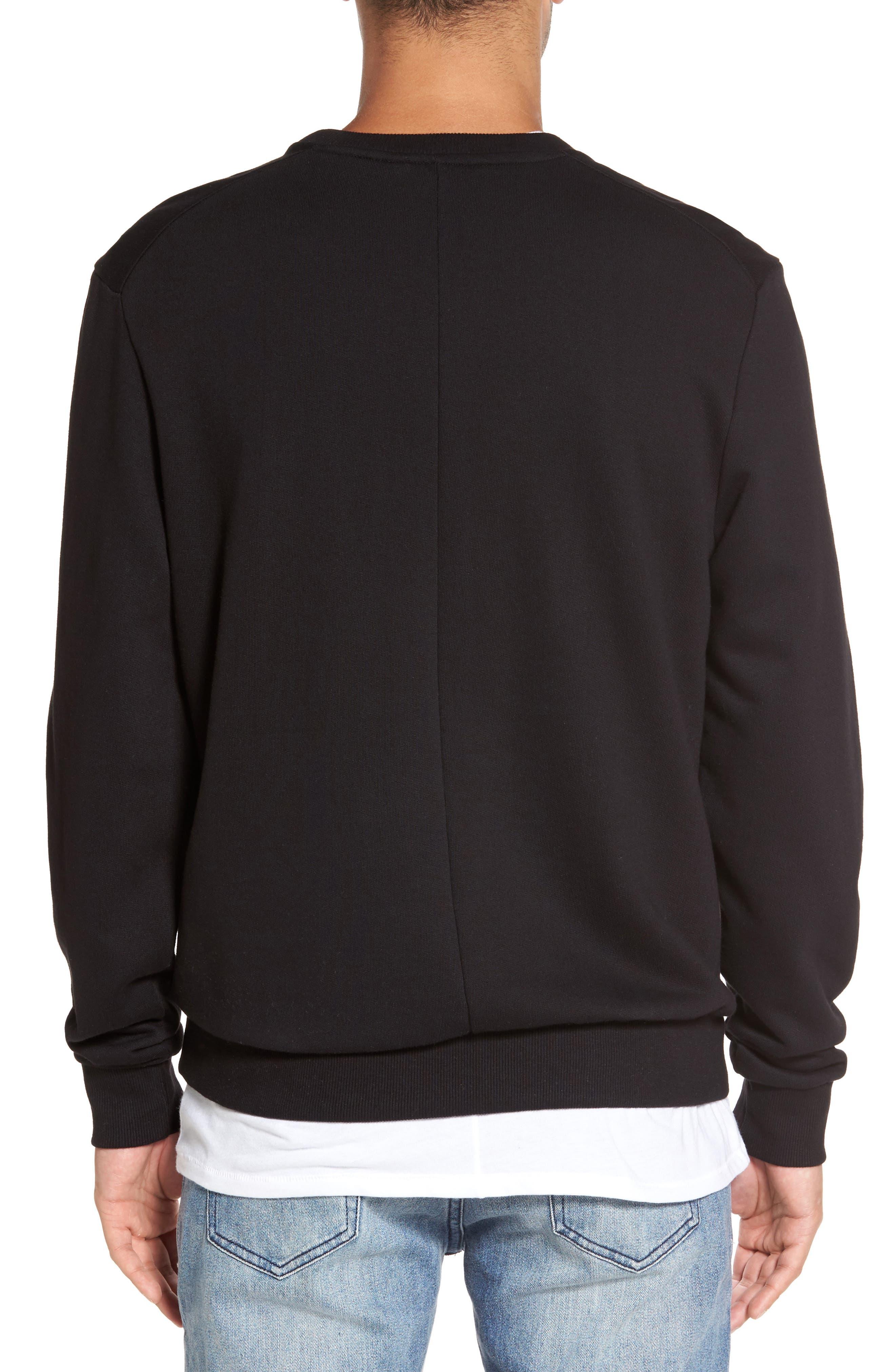 Nolan Embroidered Sweatshirt,                             Alternate thumbnail 2, color,                             Black
