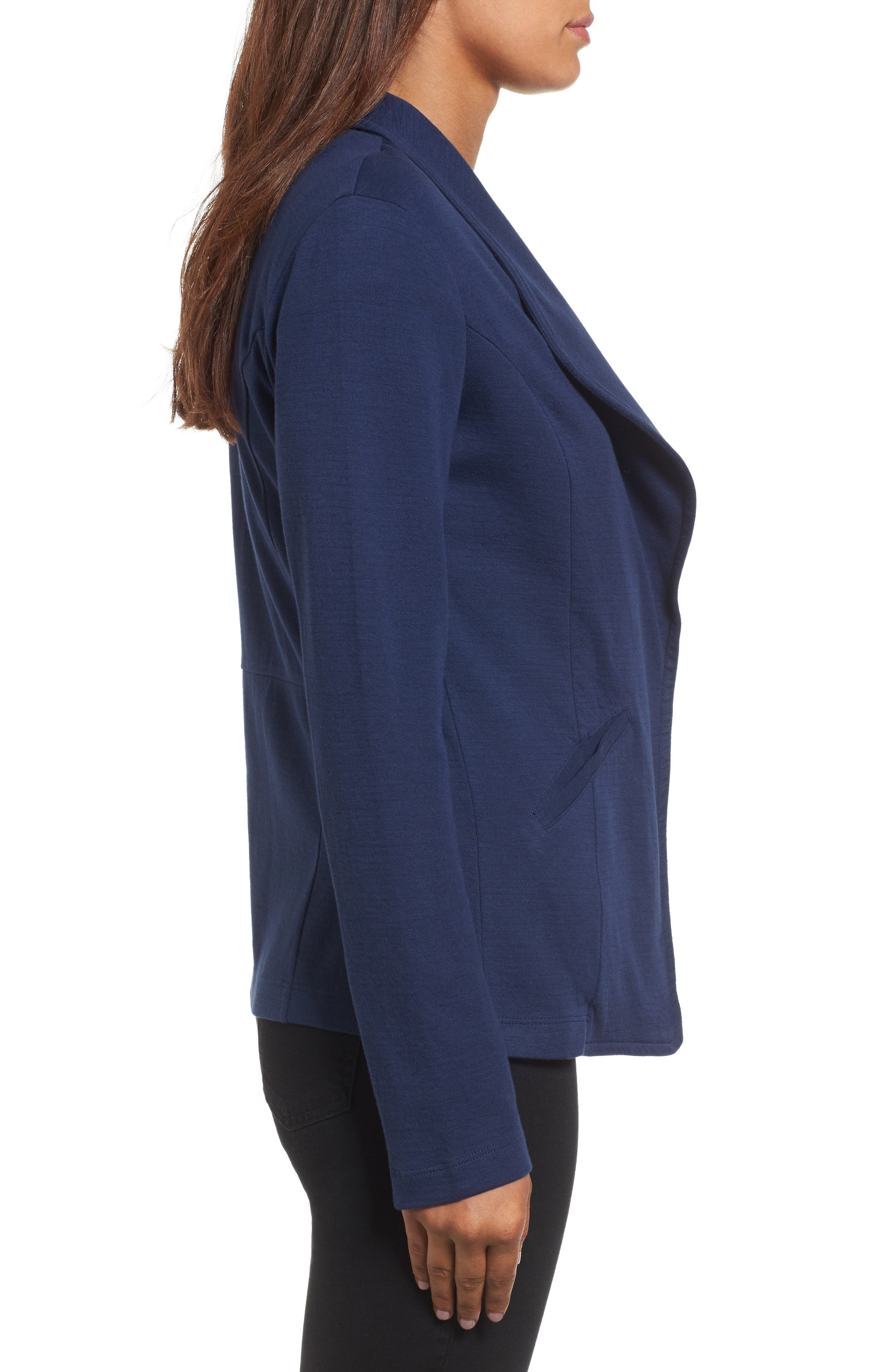Alternate Image 3  - Caslon® Knit Blazer (Regular & Petite)