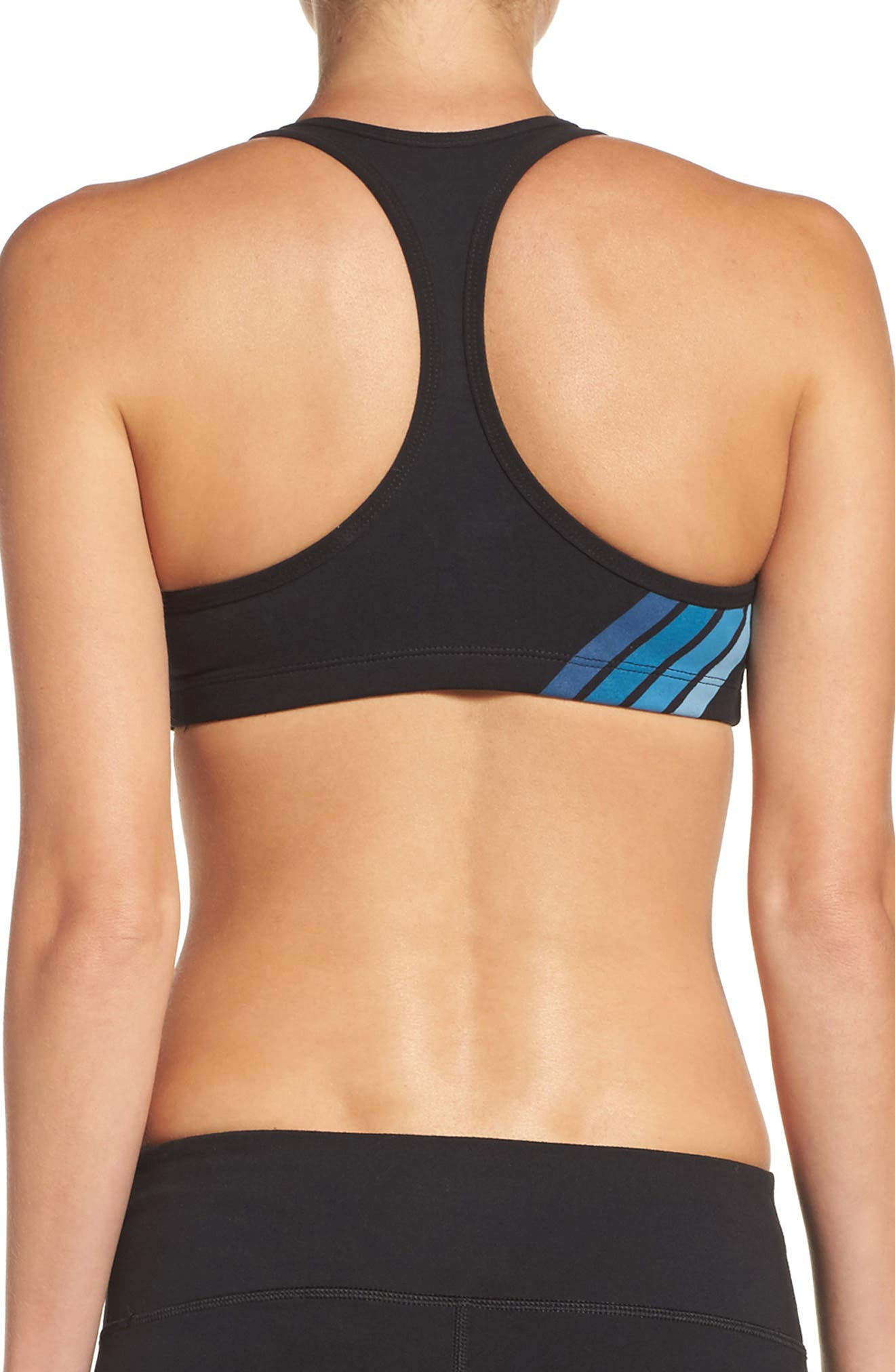 Racerback Sports Bra,                             Alternate thumbnail 2, color,                             Blue