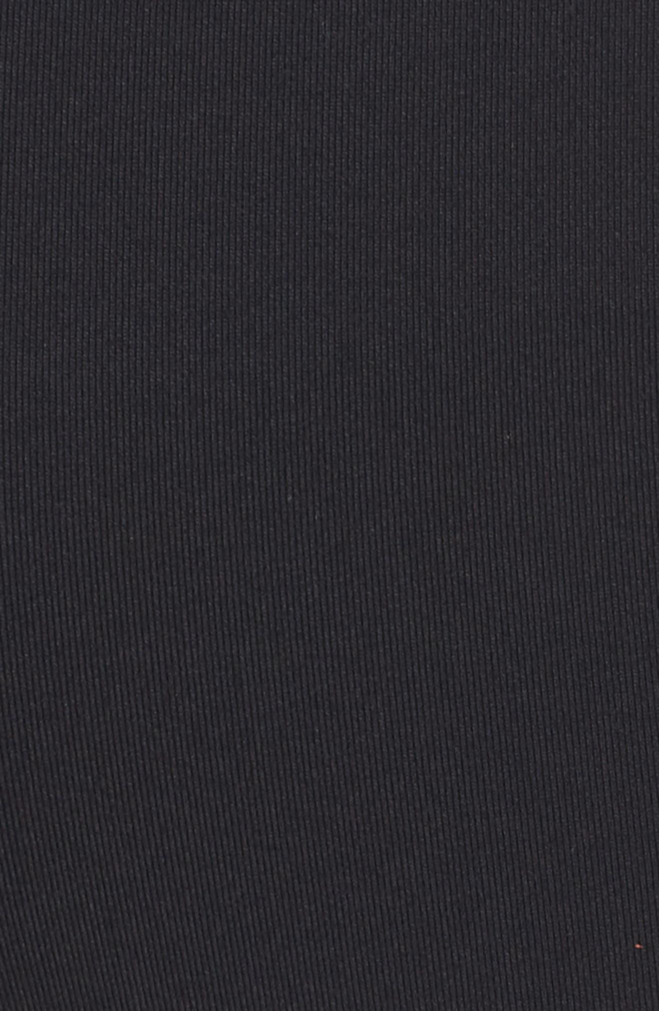71149 High Waist Crop Leggings,                             Alternate thumbnail 6, color,                             Black