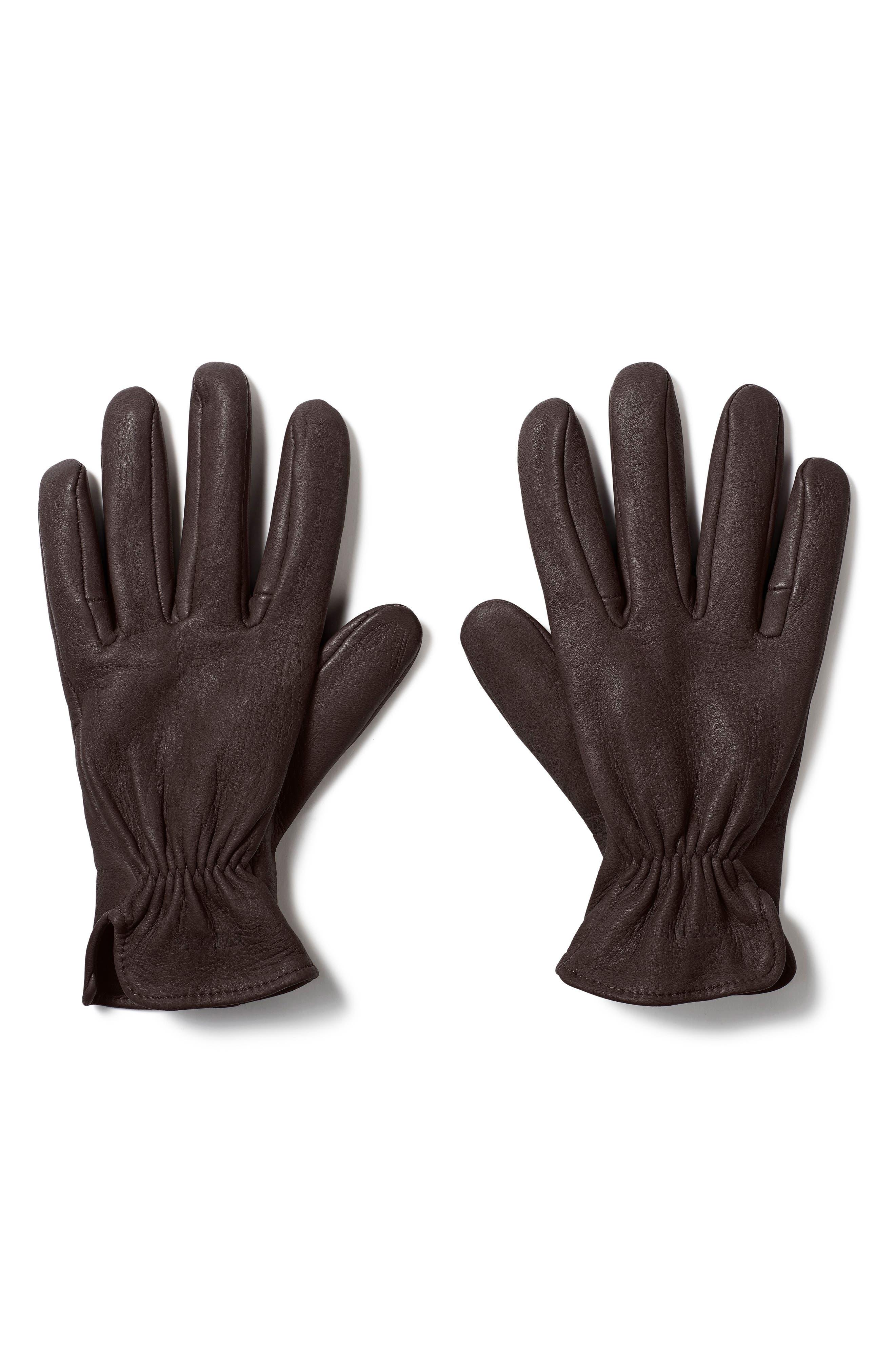 Original Deer Work Gloves,                             Main thumbnail 1, color,                             Brown