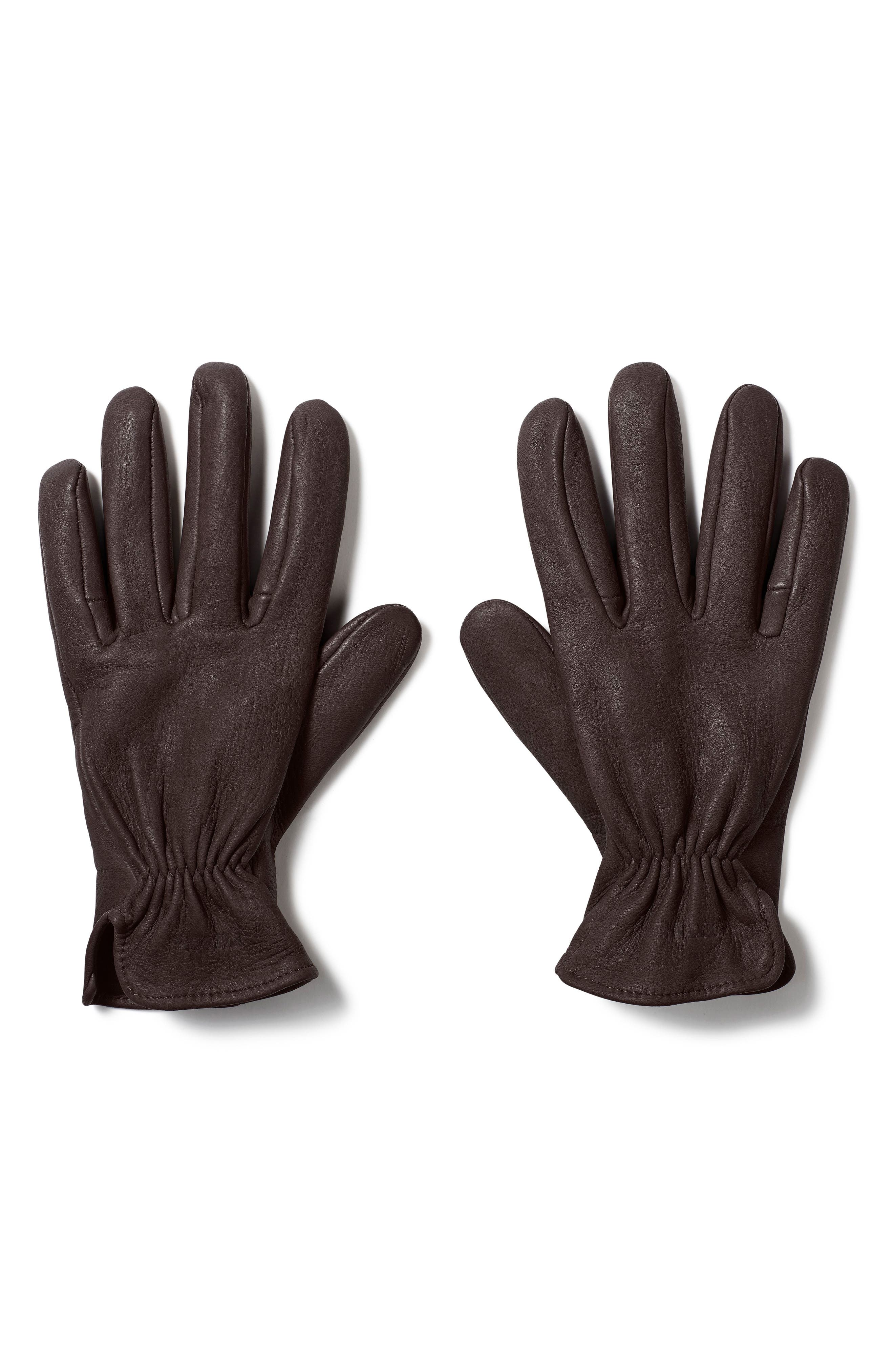 Original Deer Work Gloves,                         Main,                         color, Brown