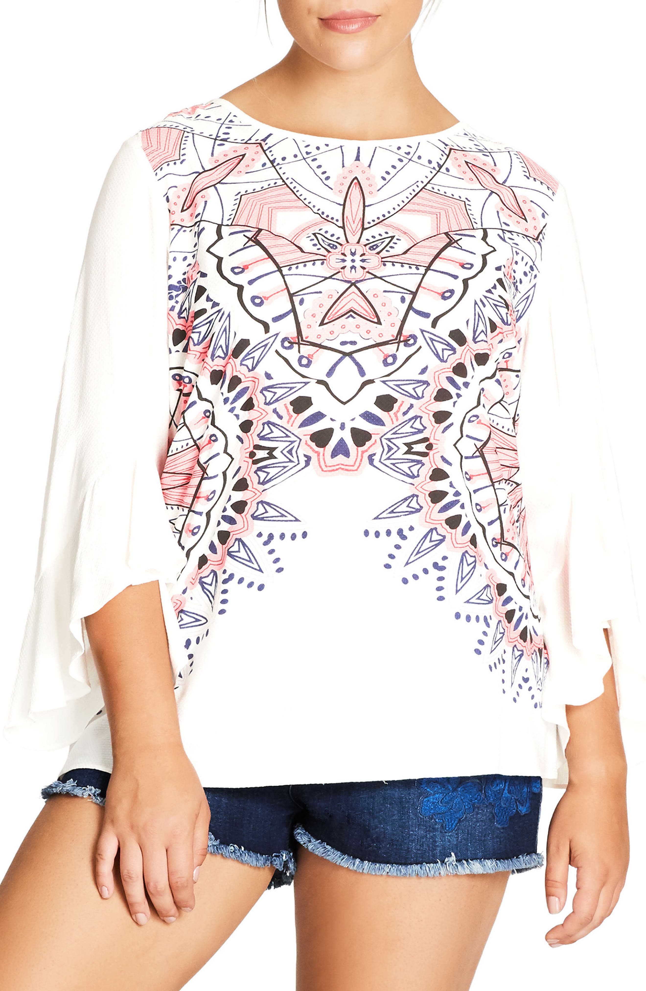 City Chic Shirt Be Mine Top (Plus Size)