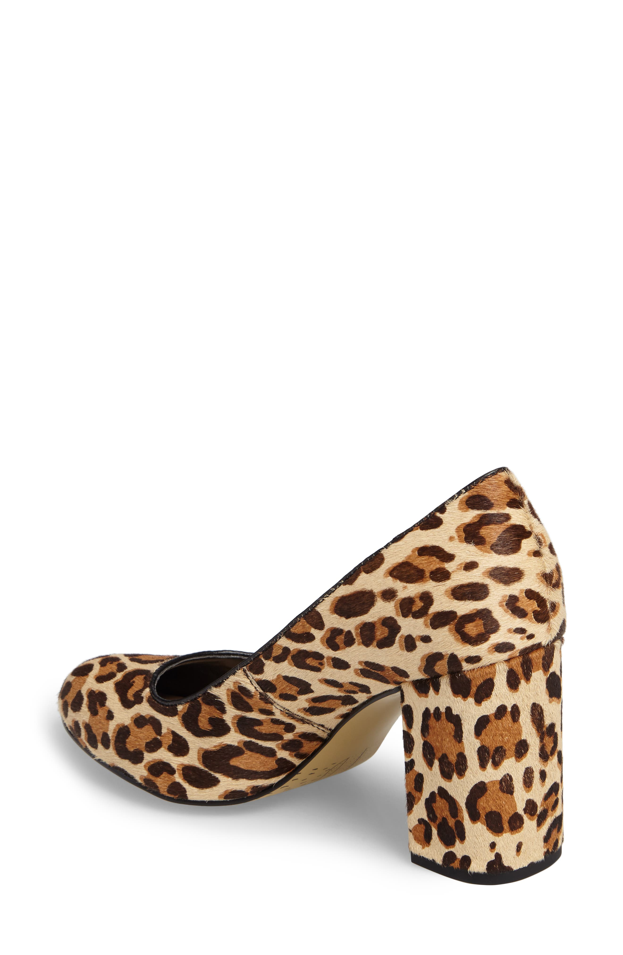 'Nara' Block Heel Pump,                             Alternate thumbnail 2, color,                             Leopard Pony Calf Hair