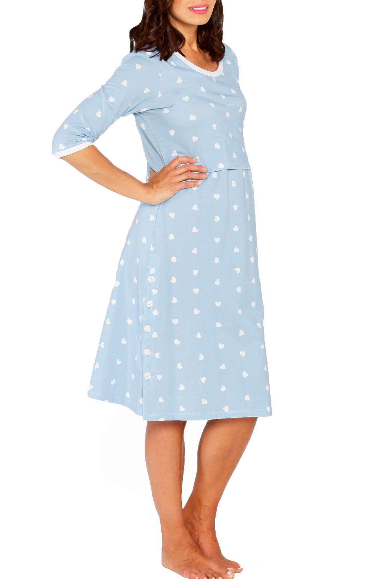 Angel Maternity Heart Maternity/Nursing Gown