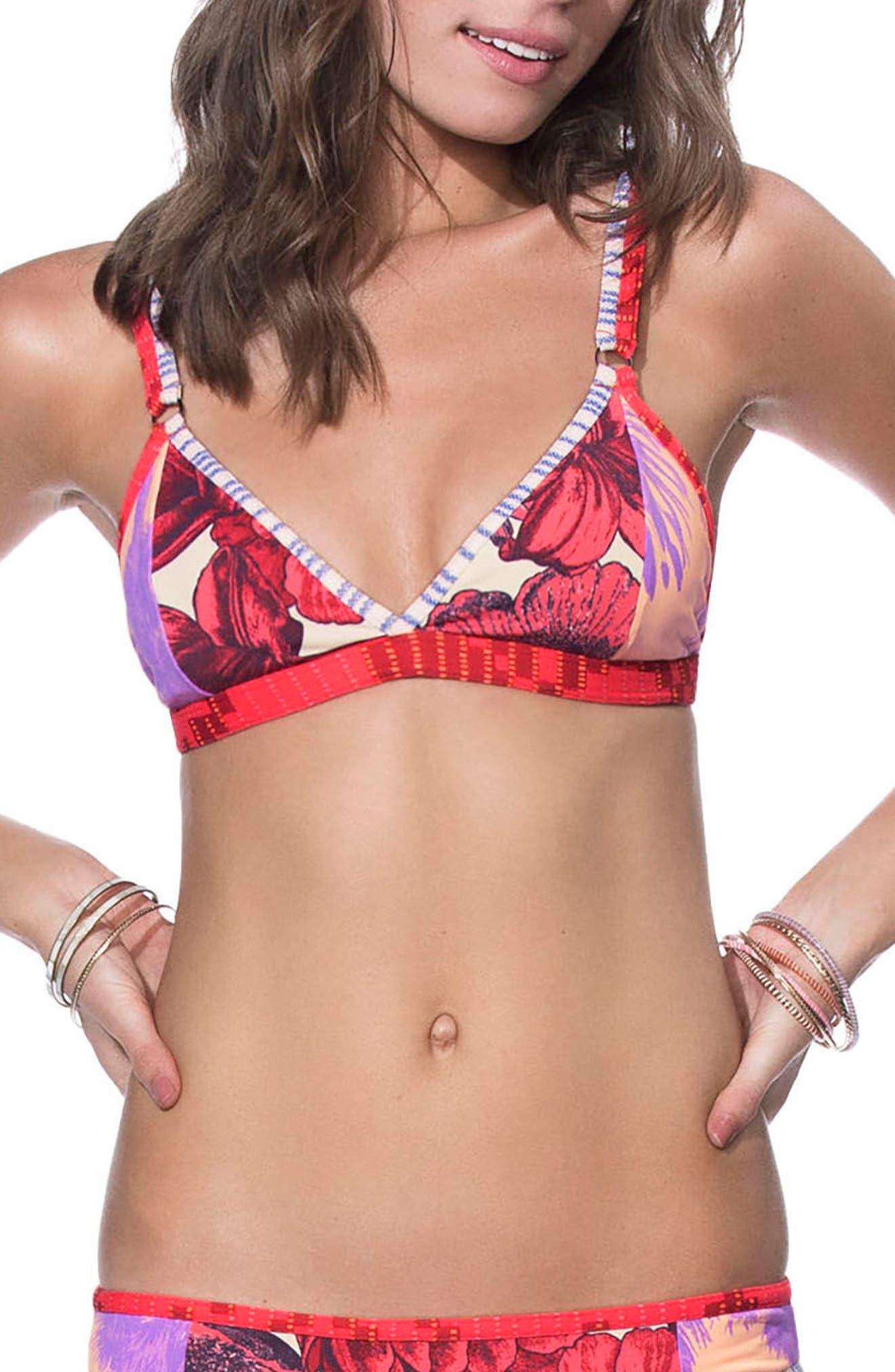Maaji Orchid Dolphins Reversible Bikini Top