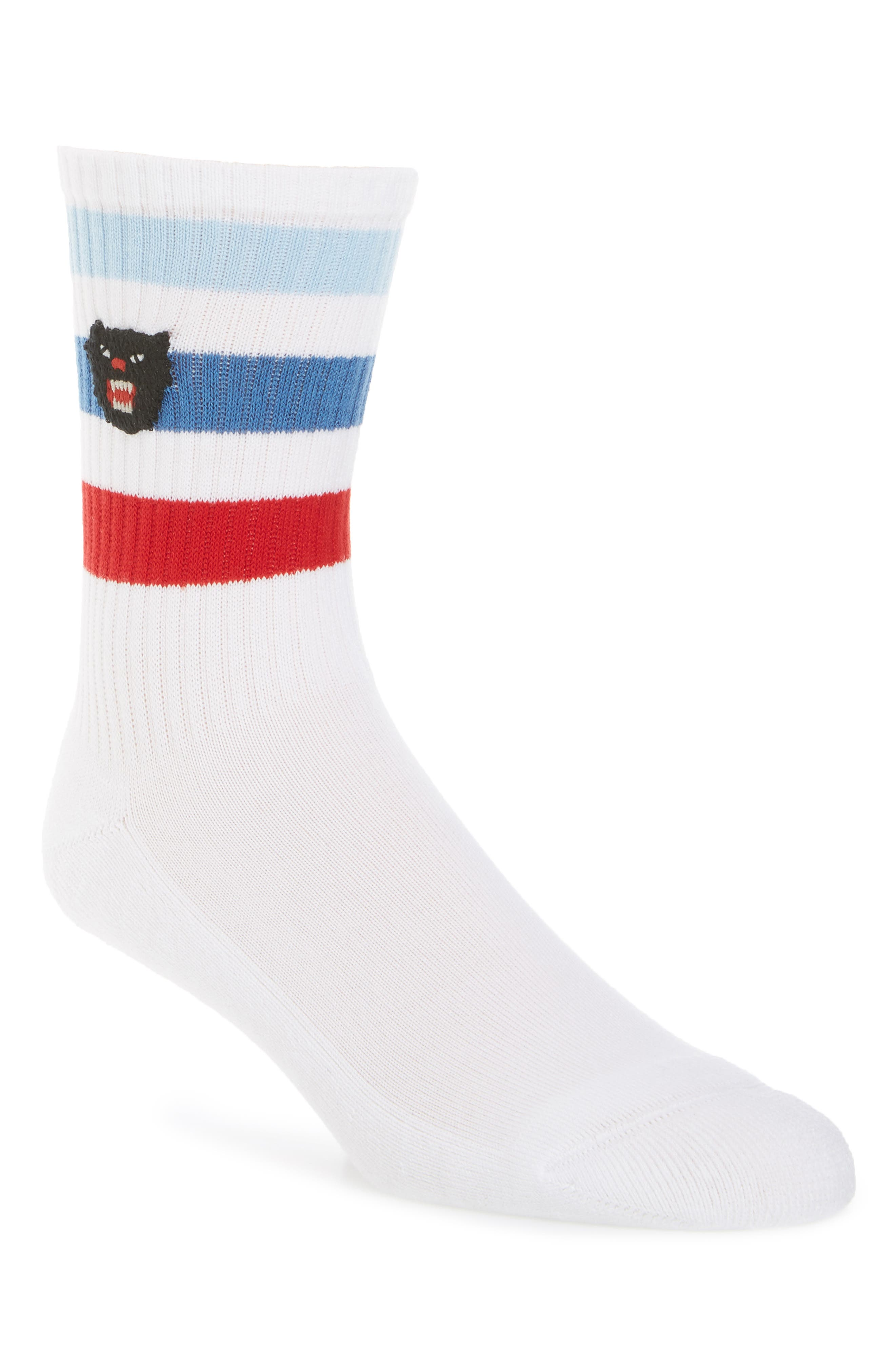 Puma Patch Socks,                             Main thumbnail 1, color,                             White