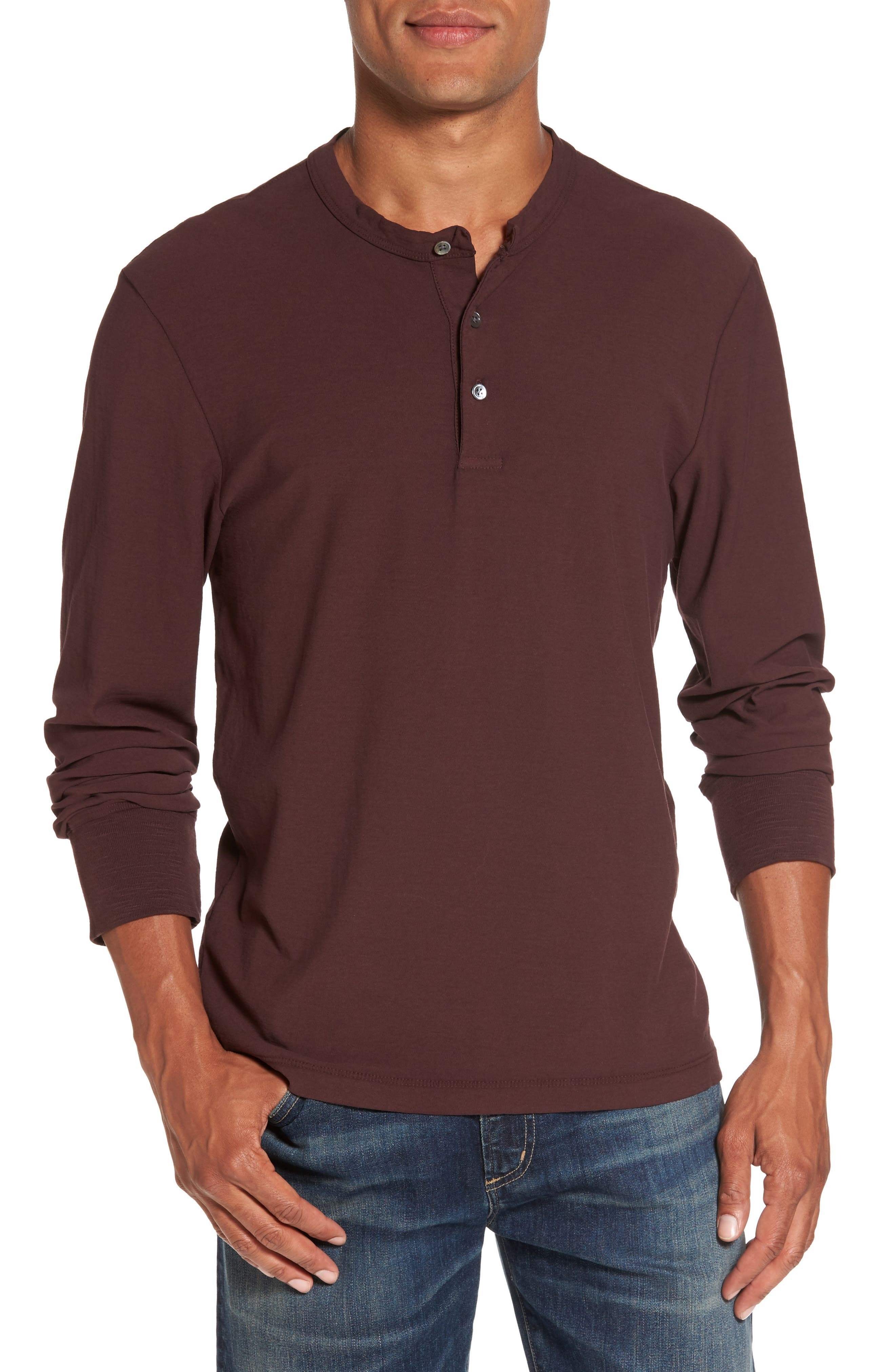 James Perse Classic High Twist Jersey Henley