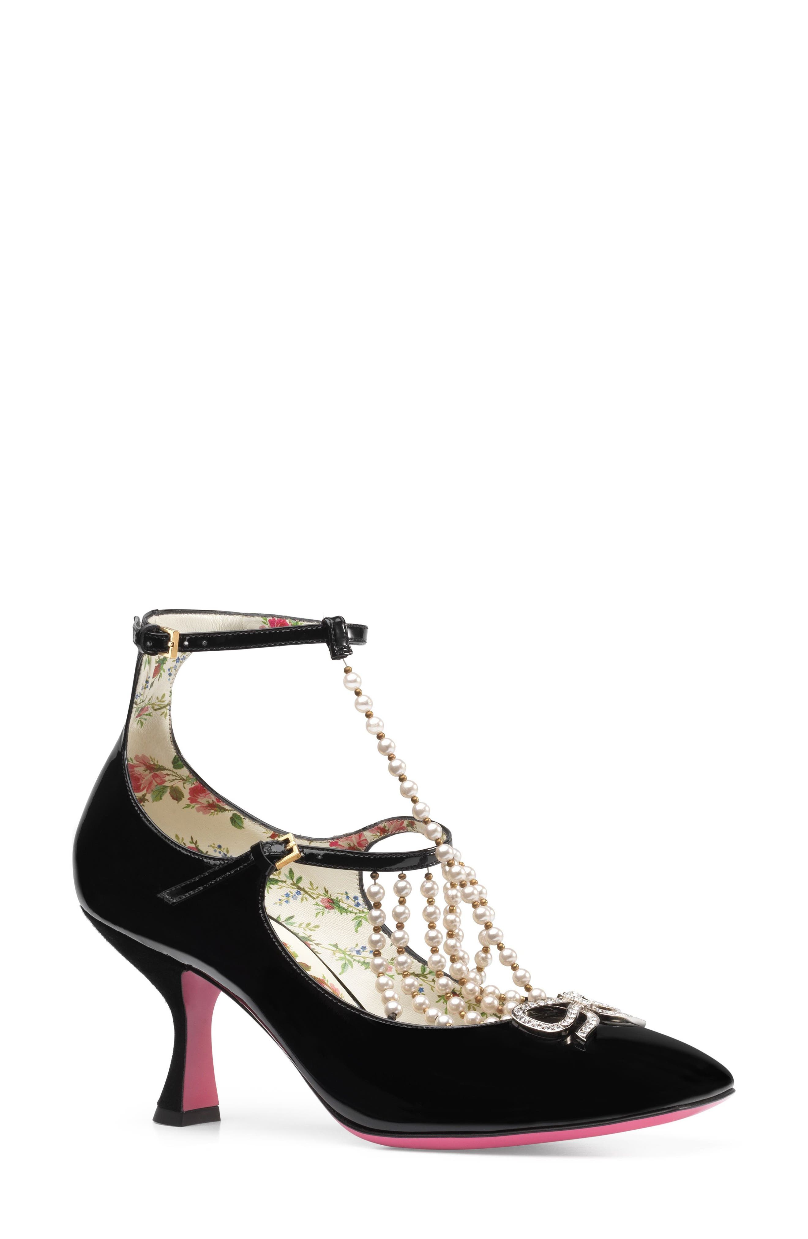 Alternate Image 1 Selected - Gucci Taide Embellished Pump (Women)