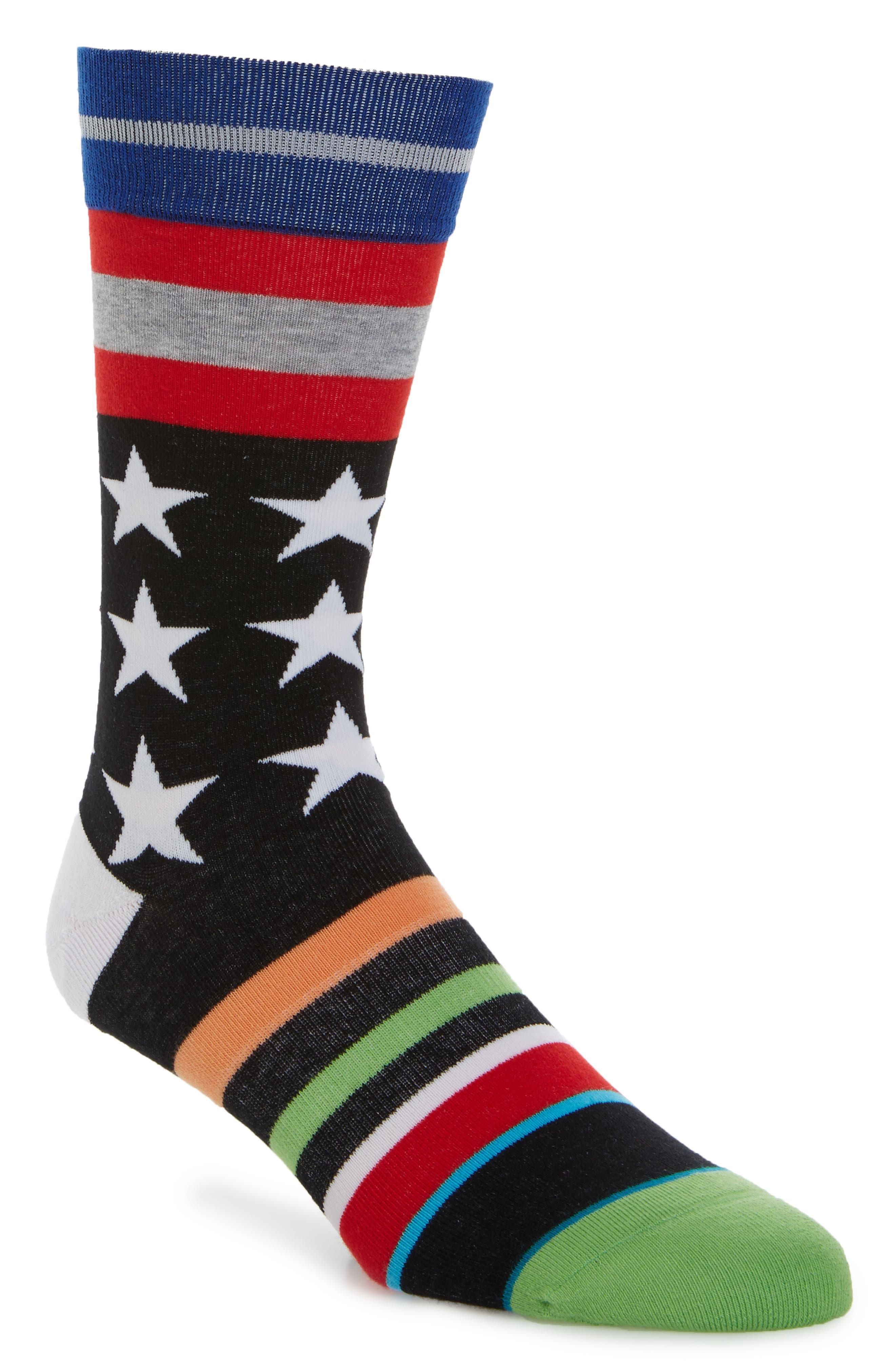 Harden Salute Socks,                             Main thumbnail 1, color,                             Black