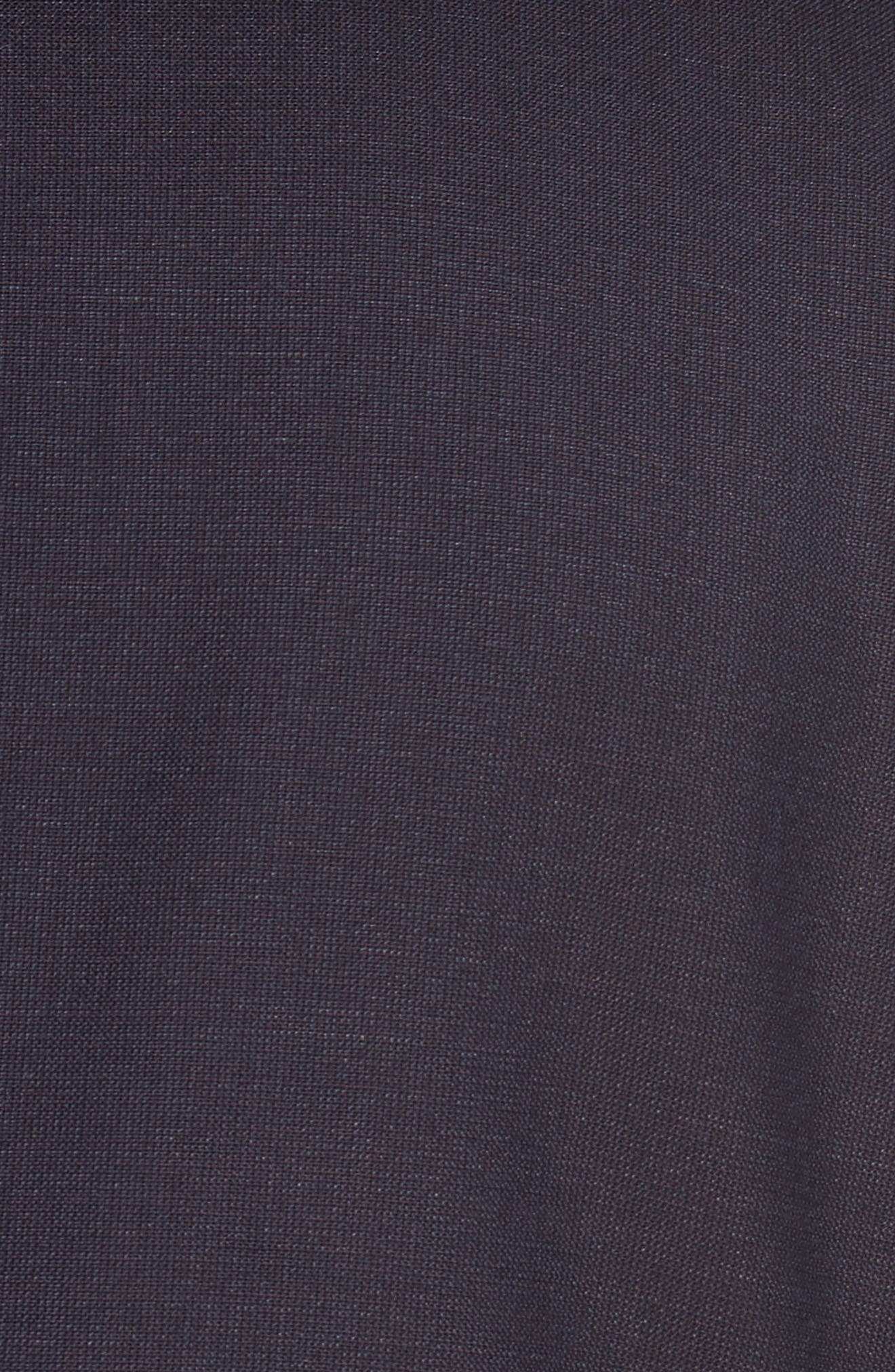 Huge/Genius Trim Fit Wool Suit,                             Alternate thumbnail 5, color,                             Dark Red