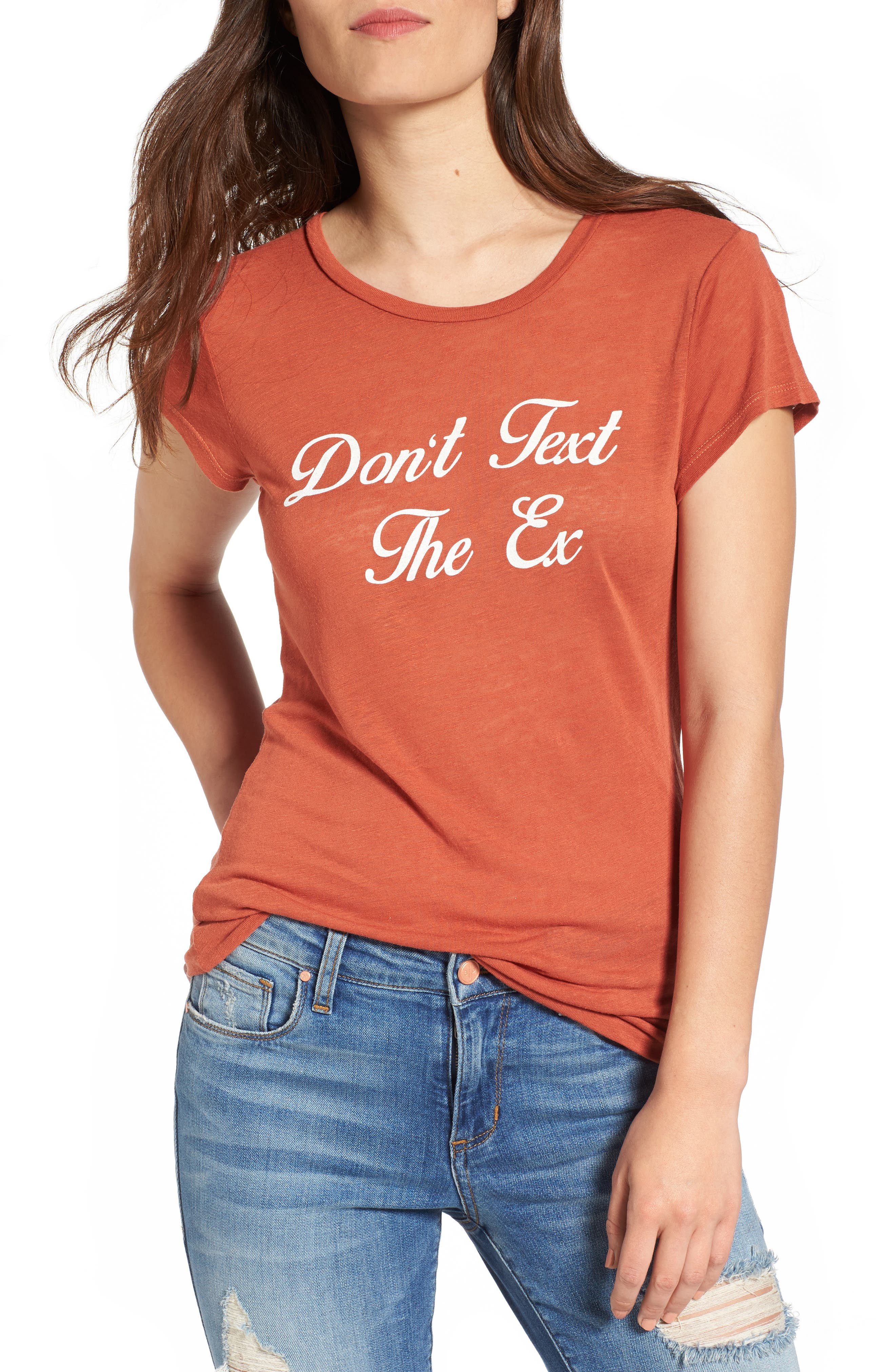 dont-text-the-ex-graphic-tee by pst-by-project-social-t
