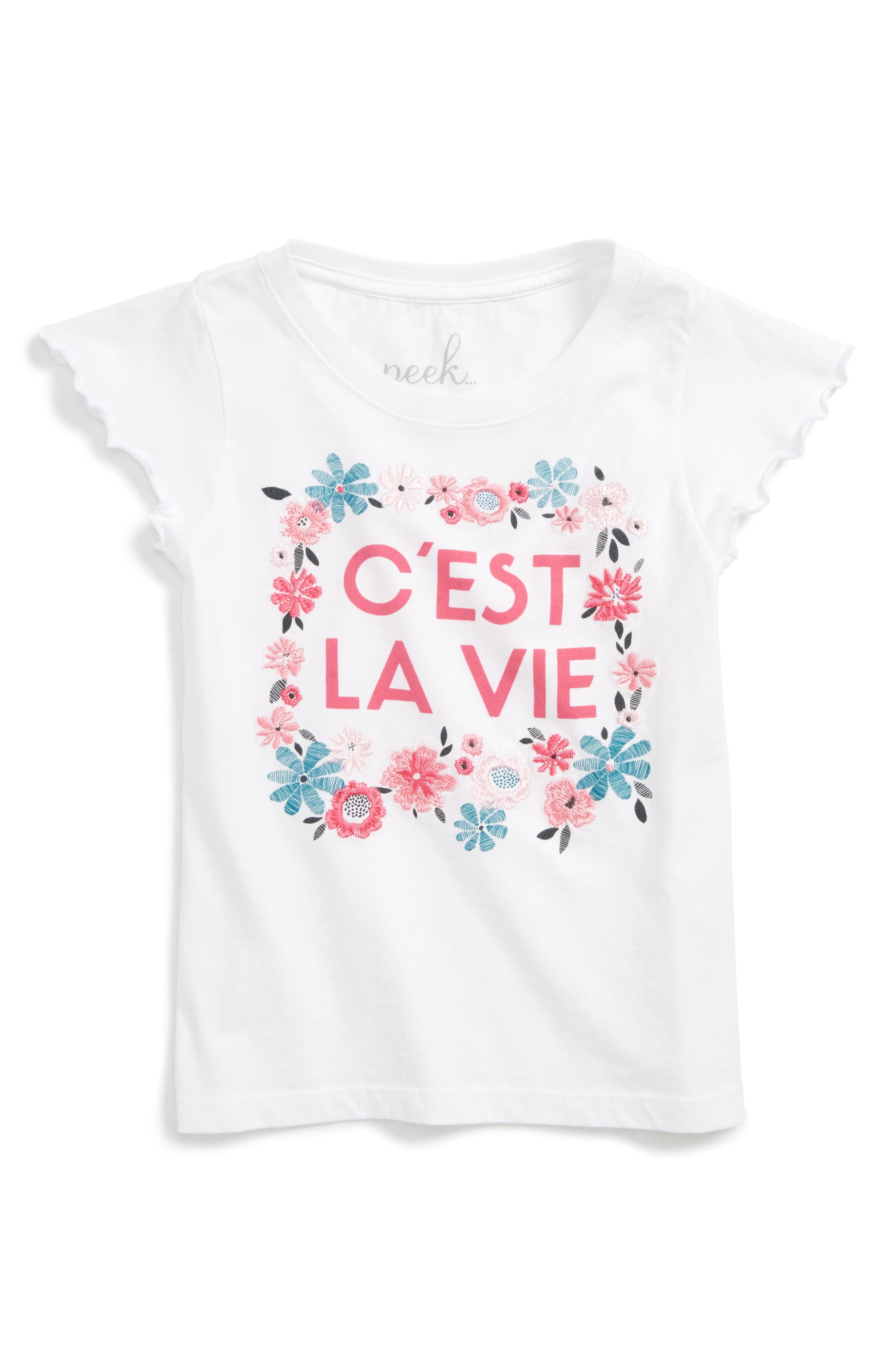 Peek C'est La Vie Tee (Toddler Girls, Little Girls & Big Girls)