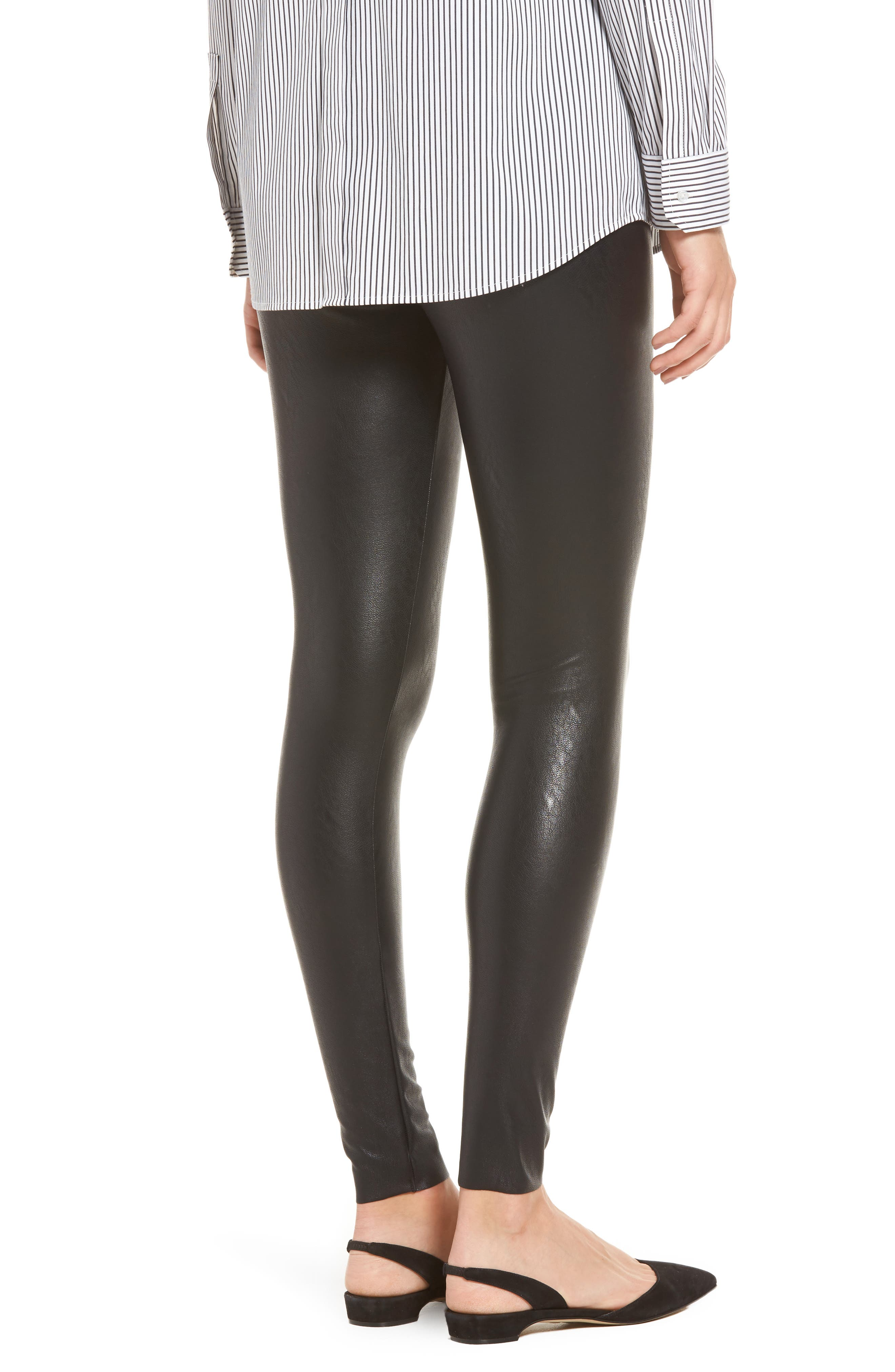Alternate Image 2  - Commando Control Top Faux Leather Leggings