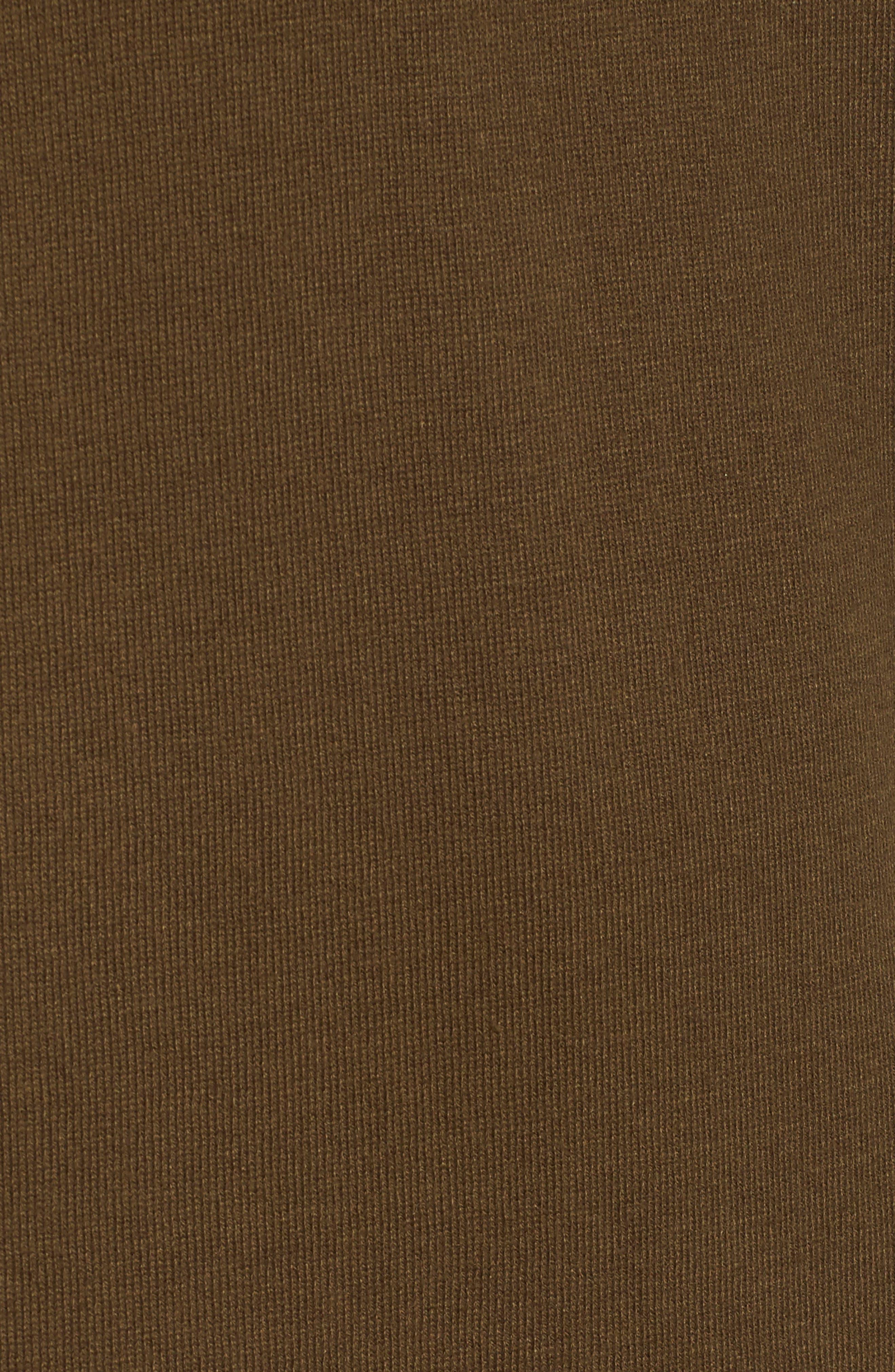 Ruffle Sweater Dress,                             Alternate thumbnail 5, color,                             Olive Dark