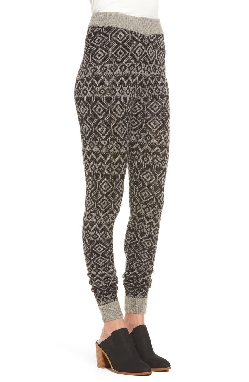 Hue Fair Isle Sweater Leggings | Nordstrom
