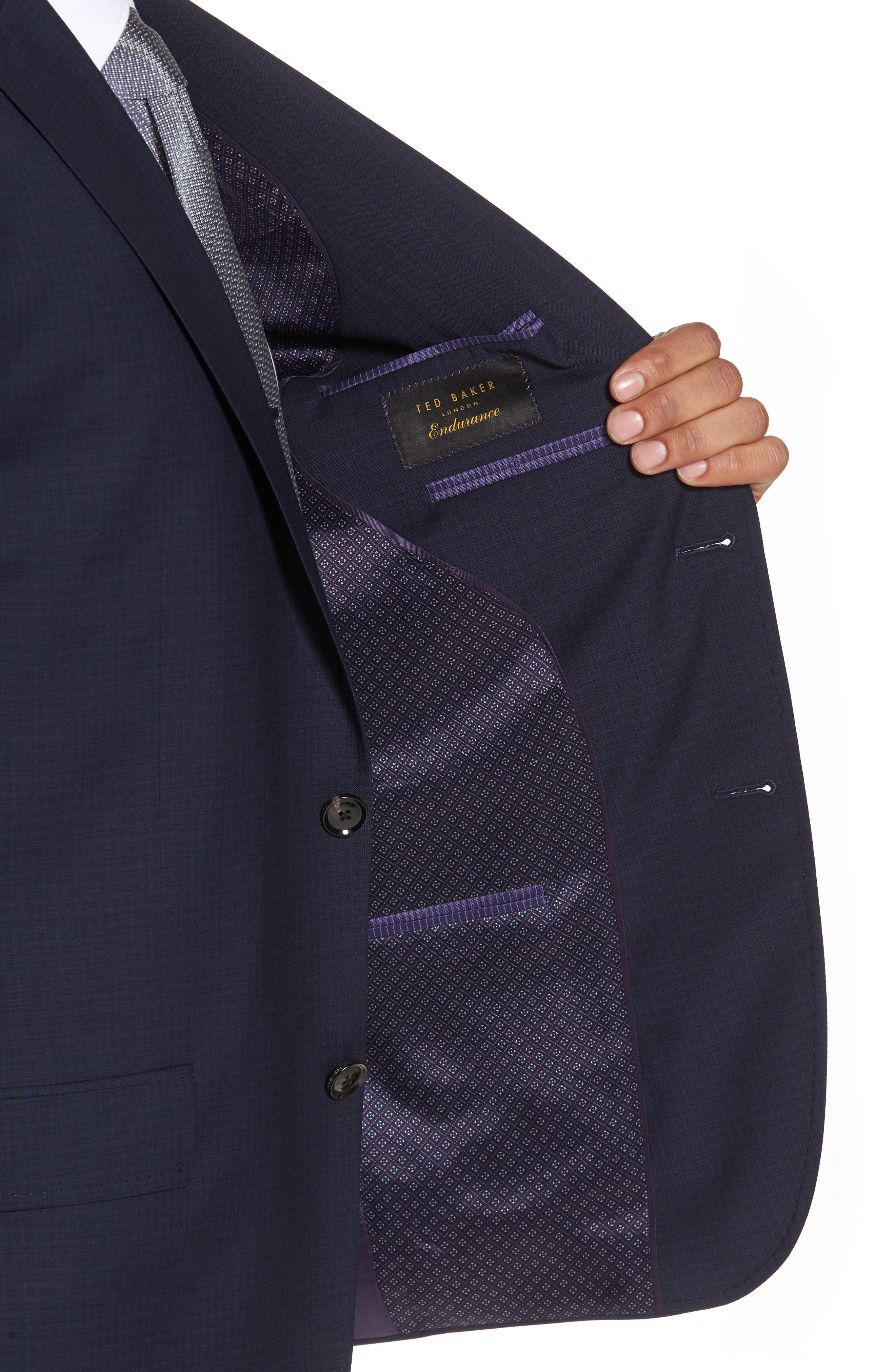 Alternate Image 4  - Ted Baker London Jay Trim Fit Check Wool Suit