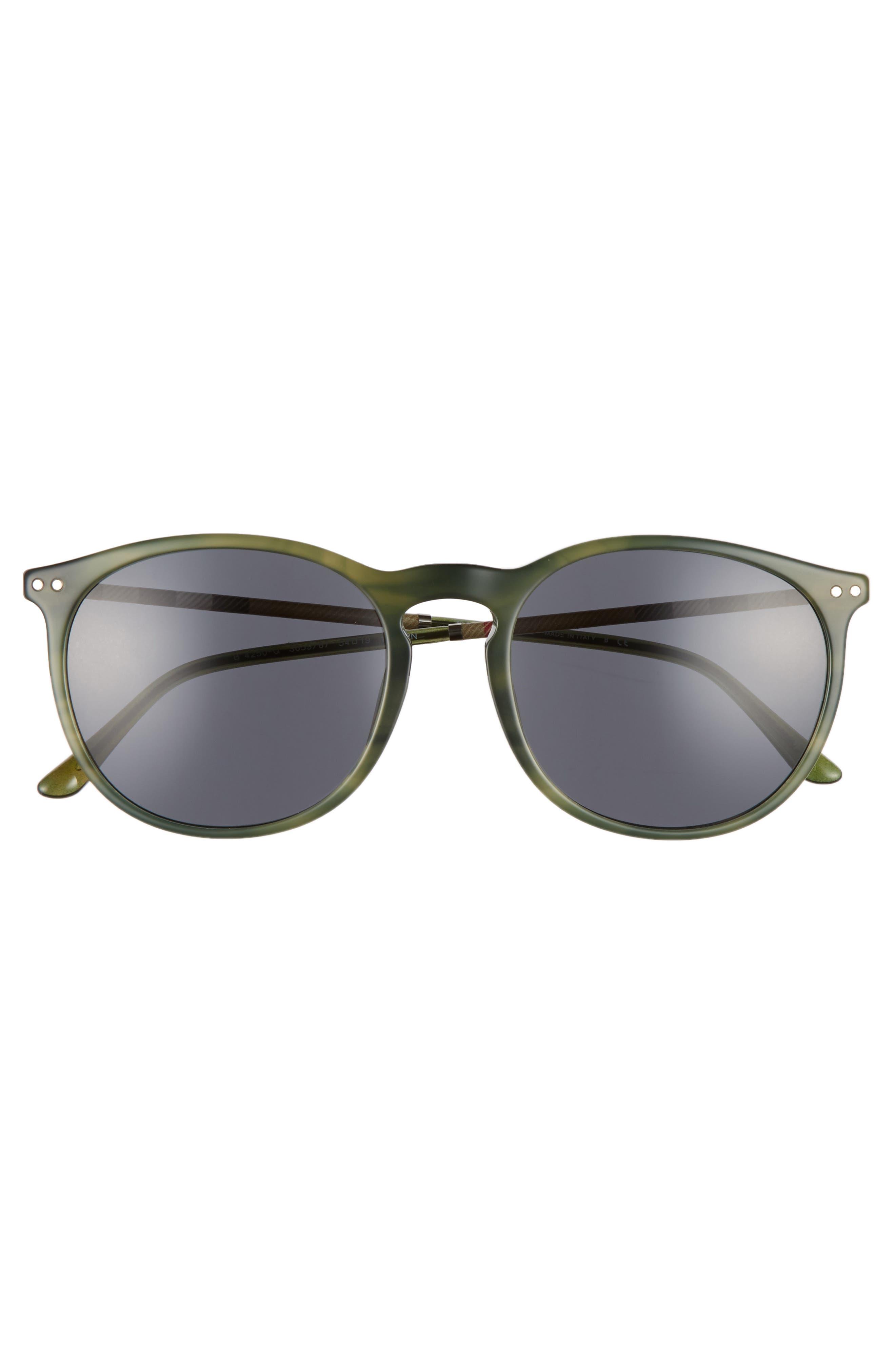 54mm Sunglasses,                             Alternate thumbnail 3, color,                             Grey/ Green