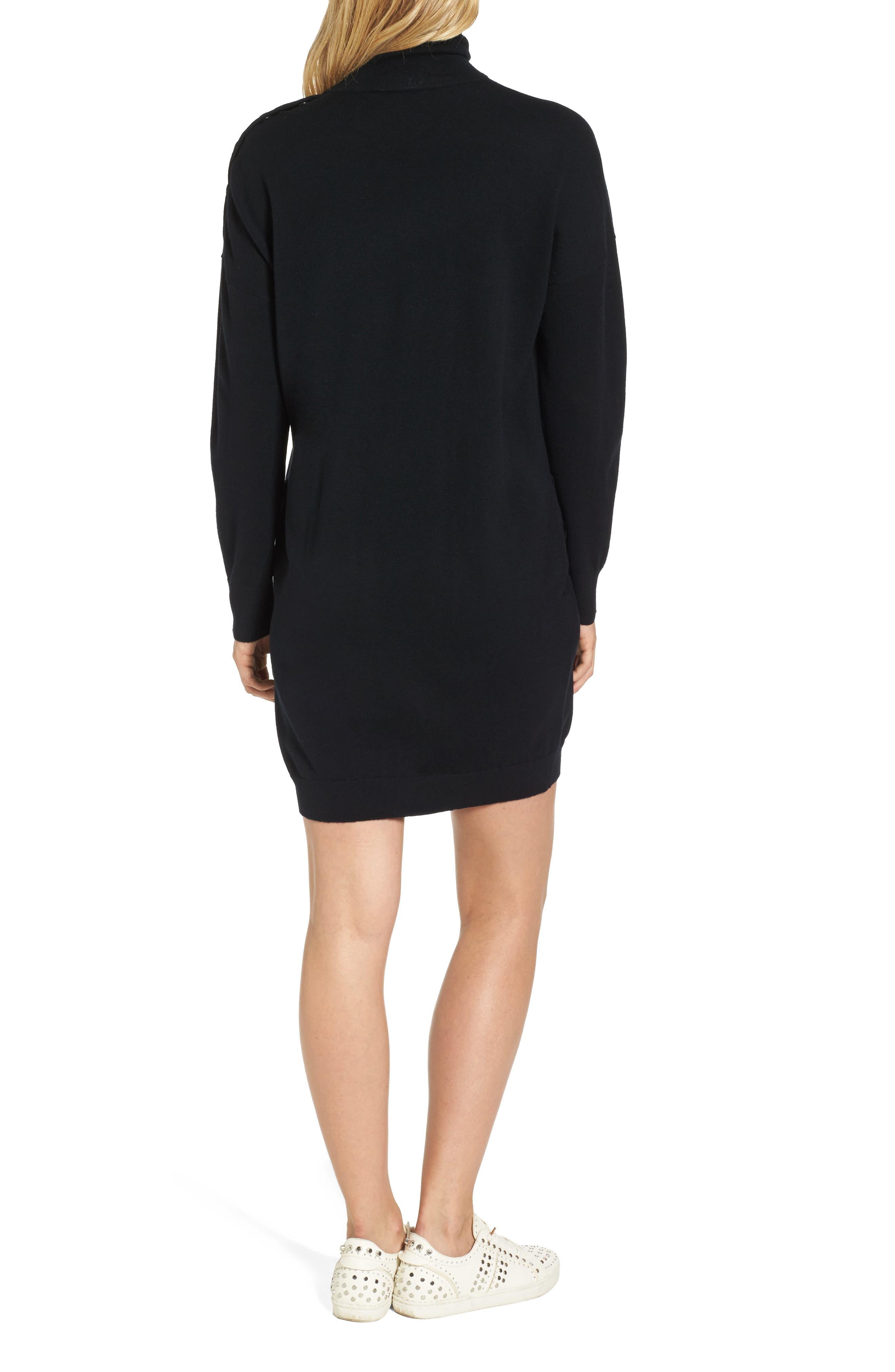 Marissa Sweater Dress,                             Alternate thumbnail 2, color,                             True Black