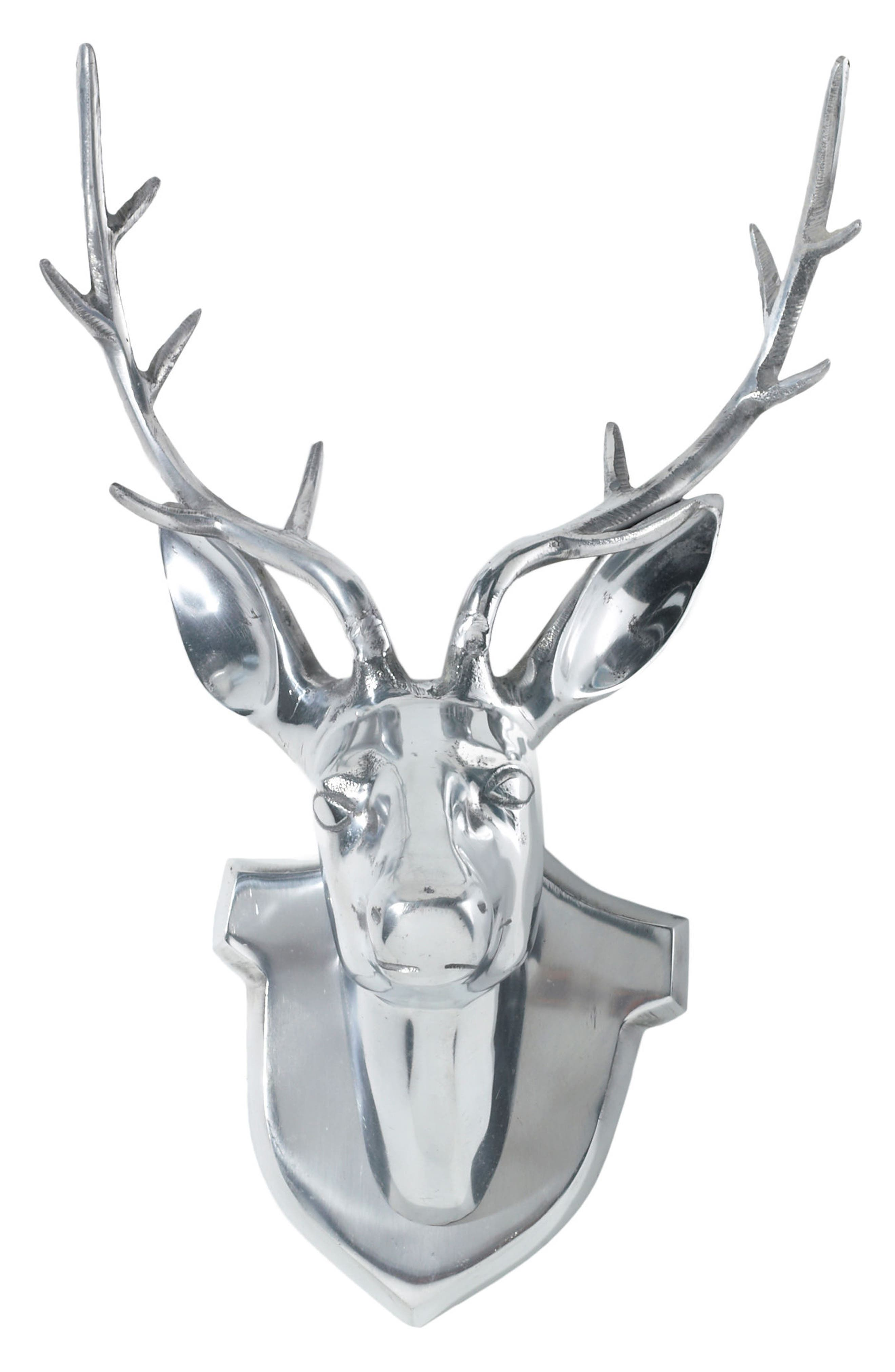 Main Image - Accent Decor Silvertone Deer Head Mount