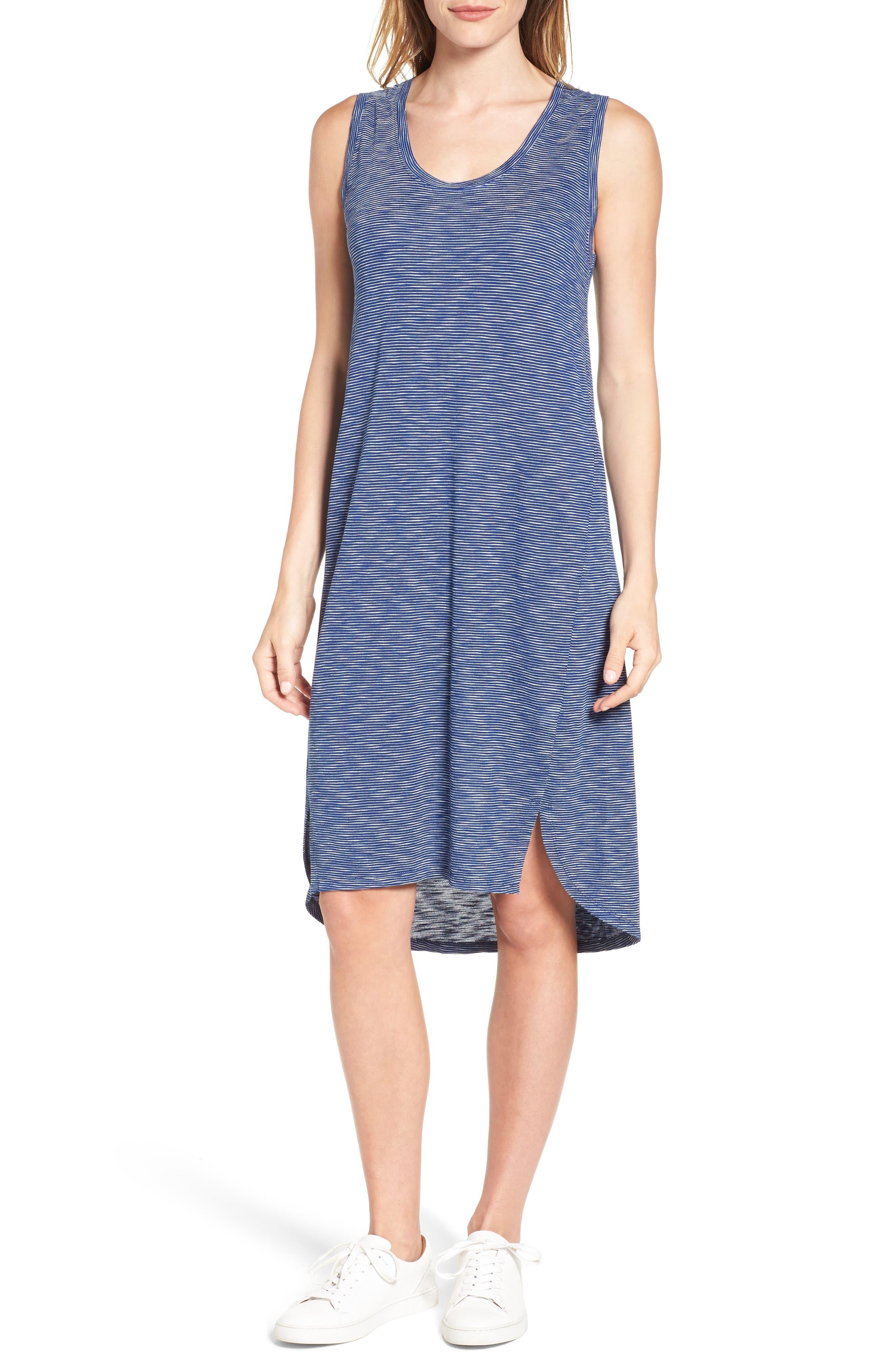 Caslon® Shirttail Hem Tank Dress (Regular & Petite)