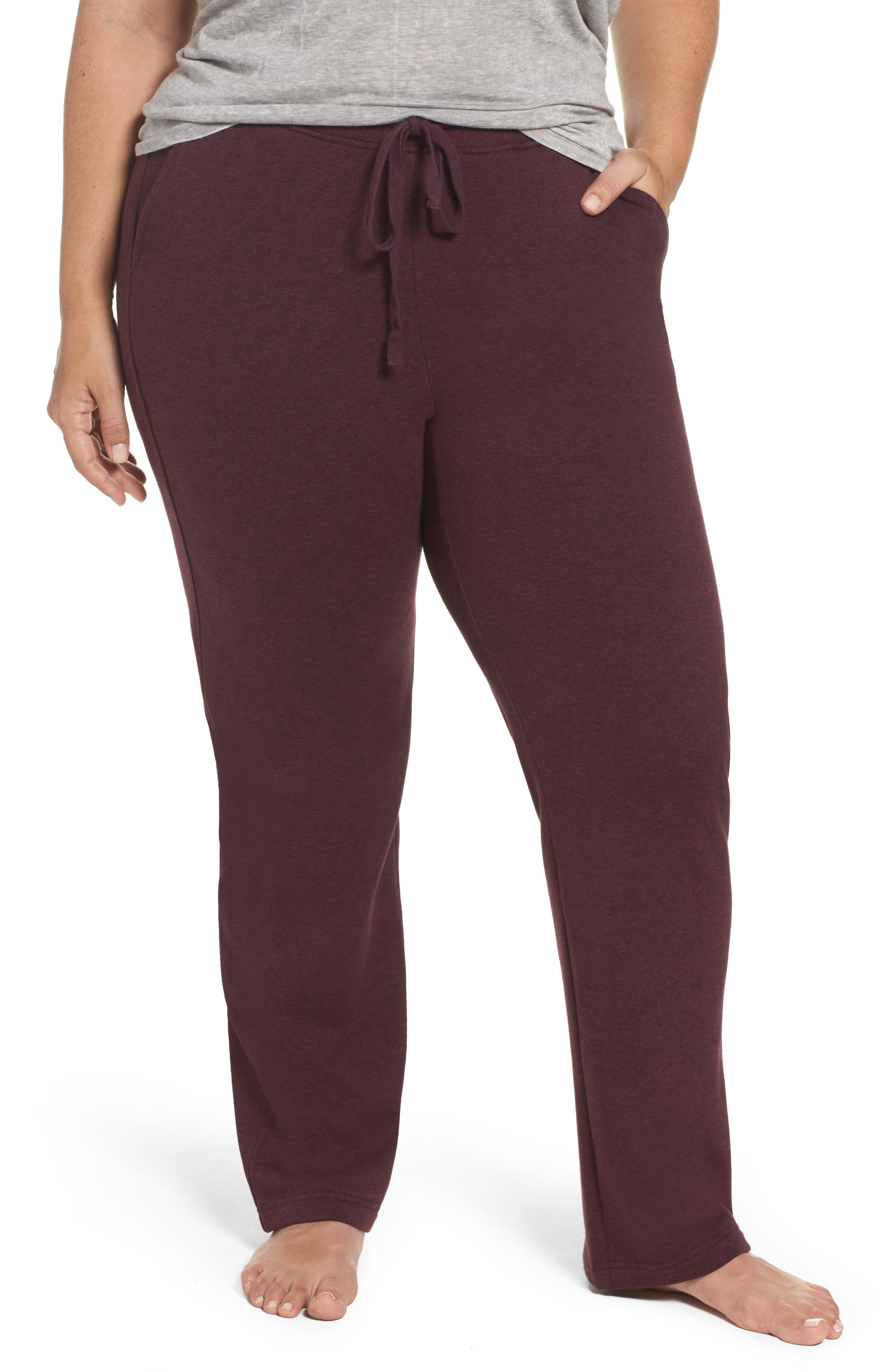 Alternate Image 1 Selected - UGG® Penny Fleece Sweatpants (Plus Size)