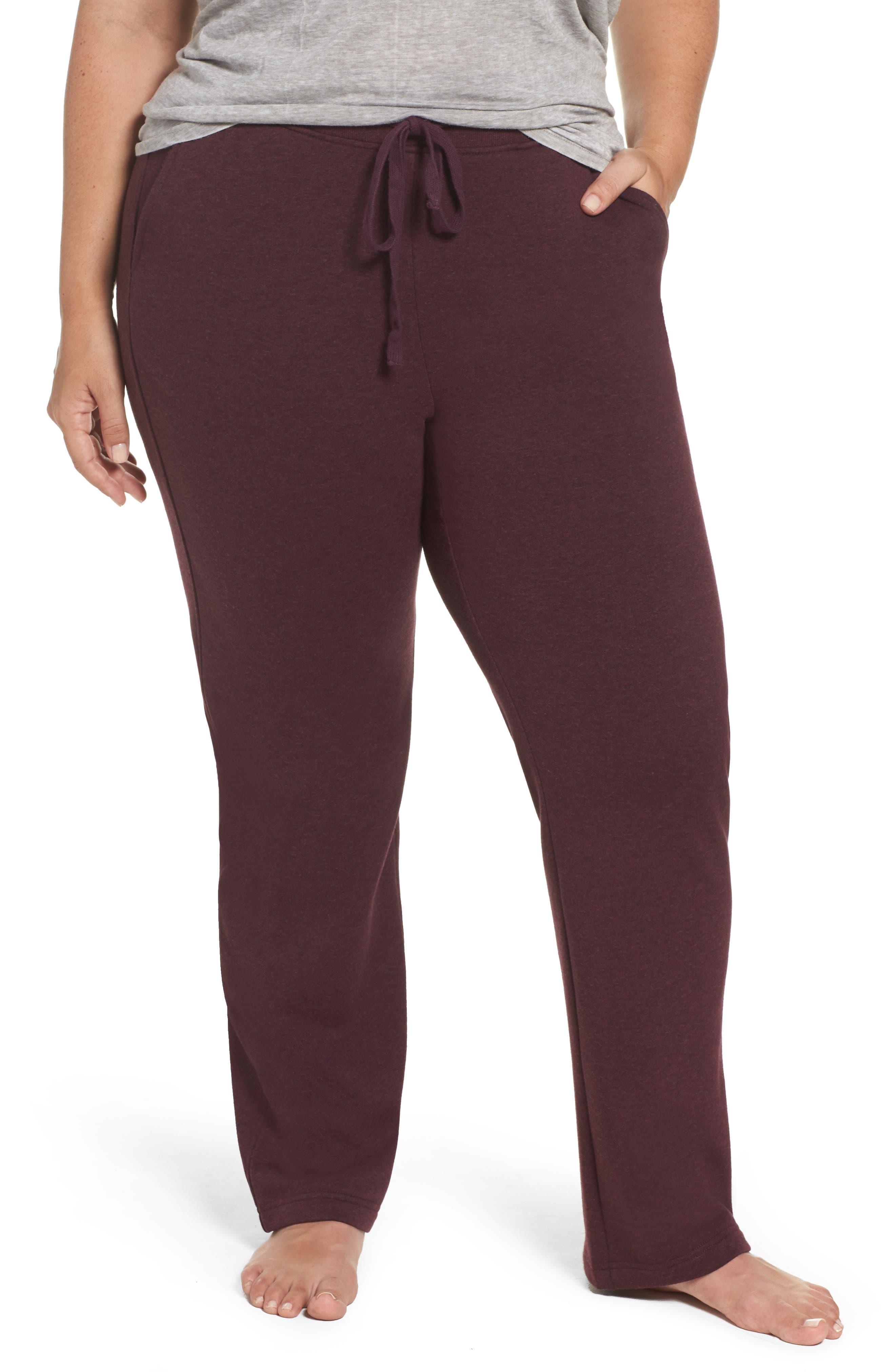 Penny Fleece Sweatpants,                         Main,                         color, Port Heather