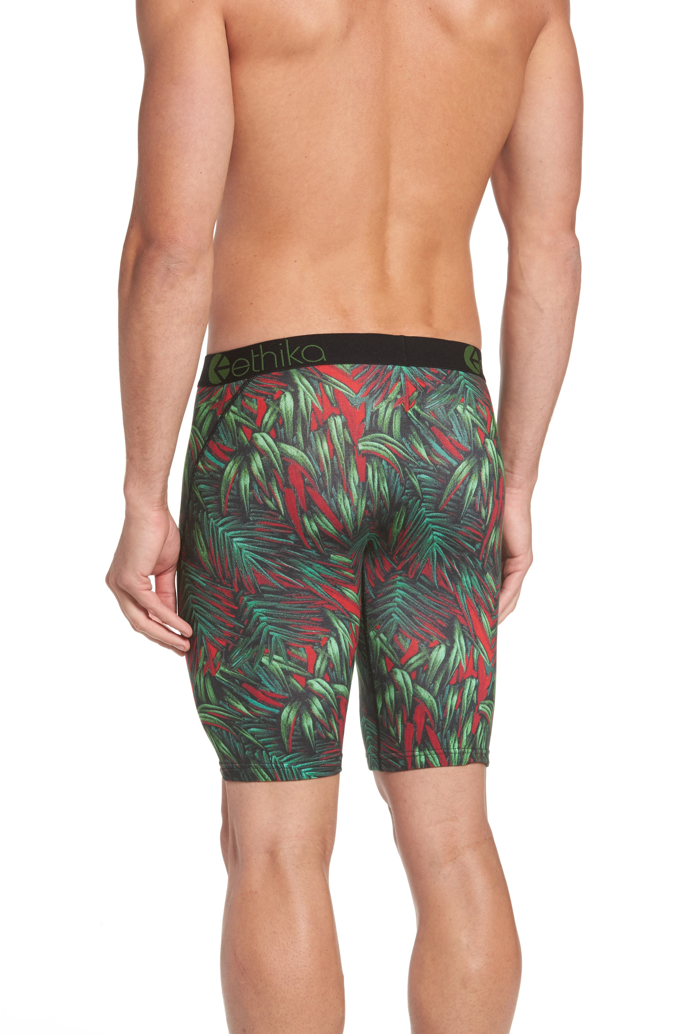 Electric Palms Boxer Briefs,                             Alternate thumbnail 2, color,                             Green/ Red