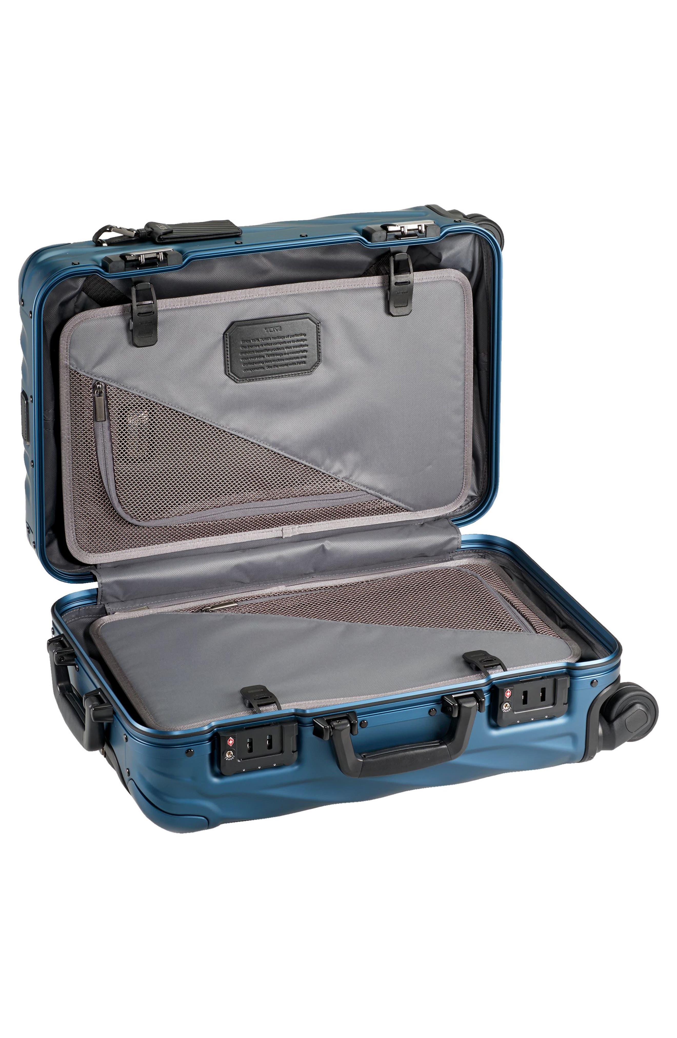 19 Degree 22 Inch International Wheeled Aluminum Carry-On,                             Alternate thumbnail 2, color,                             Blue