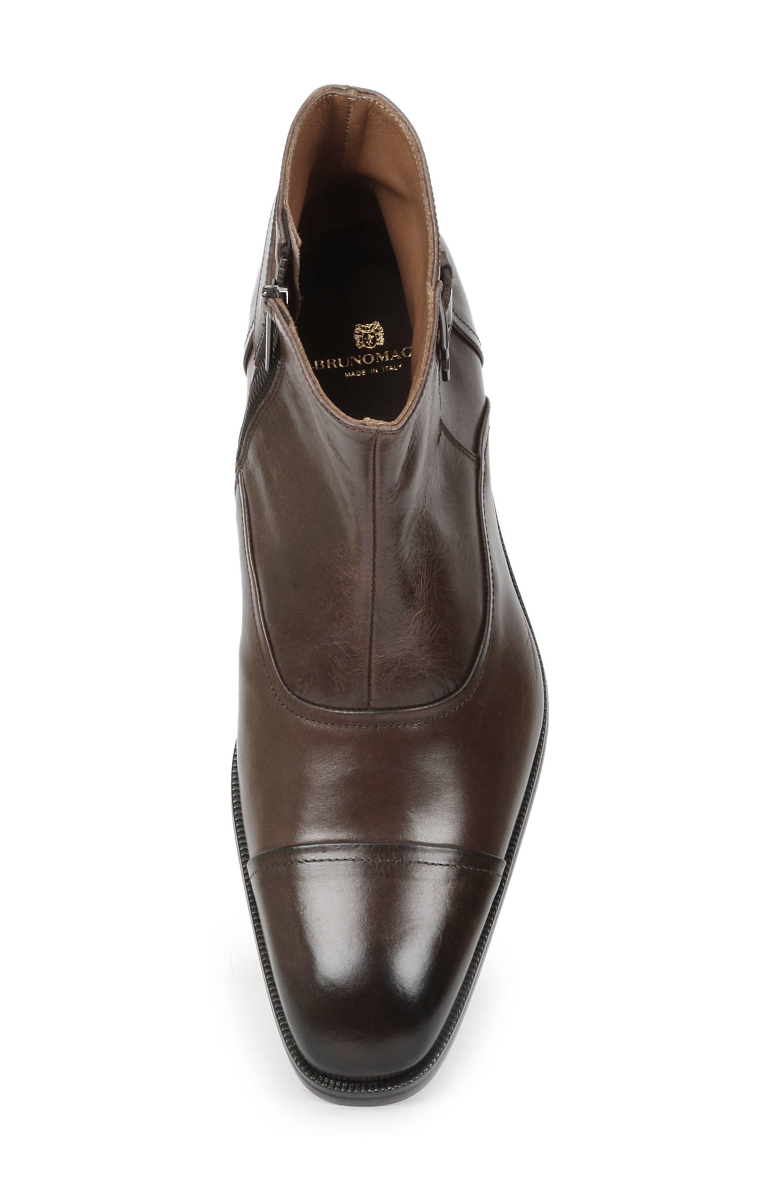 'Arcadia' Cap Toe Boot,                             Alternate thumbnail 5, color,                             Dark Brown Leather