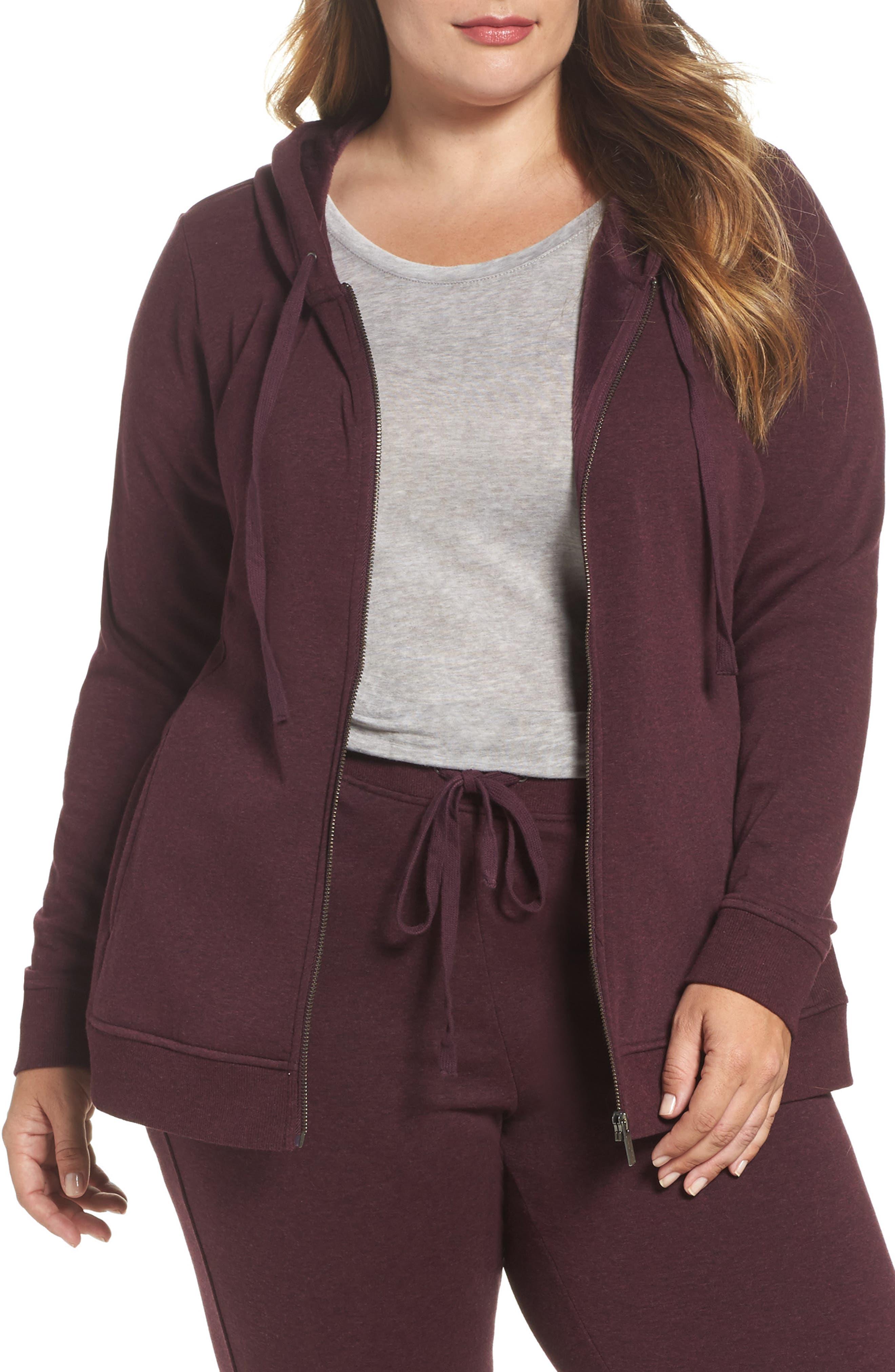 Main Image - UGG® Clara Zip Hoodie (Plus Size)