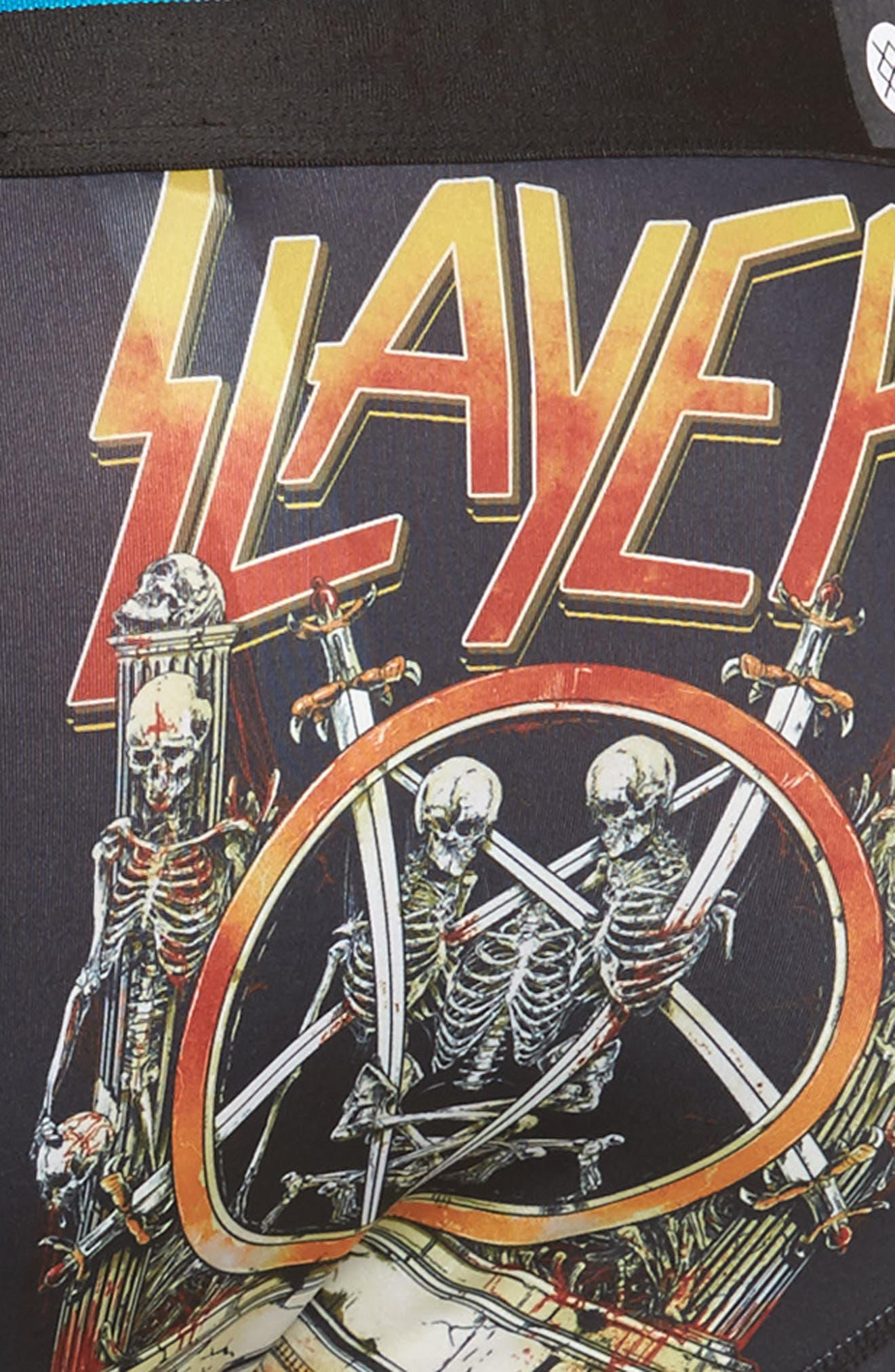 Slayer Boxer Briefs,                             Alternate thumbnail 4, color,                             Black