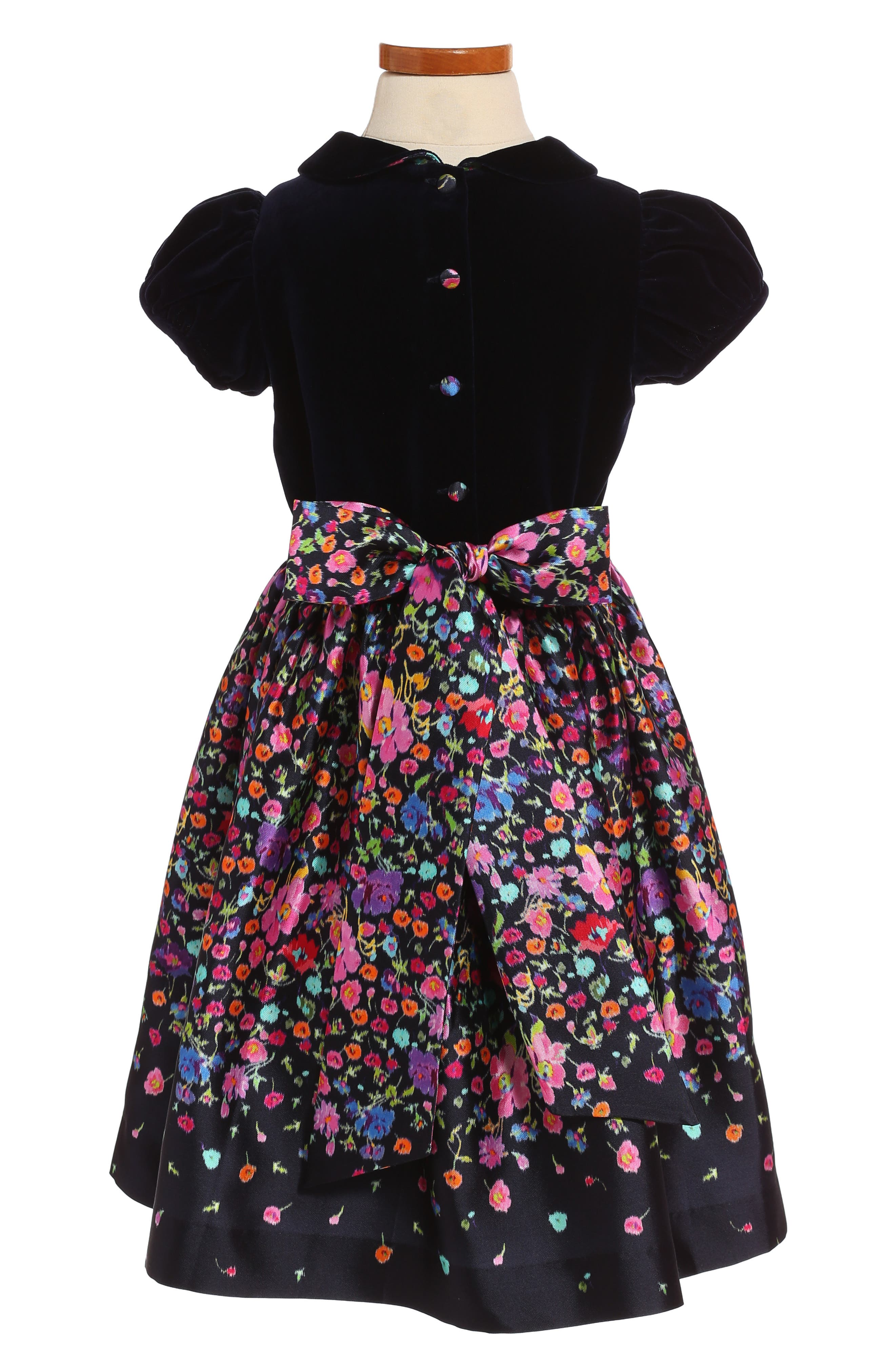 Alternate Image 2  - Oscar de la Renta Chine Garden Mikado Party Dress (Toddler Girls & Little Girls)