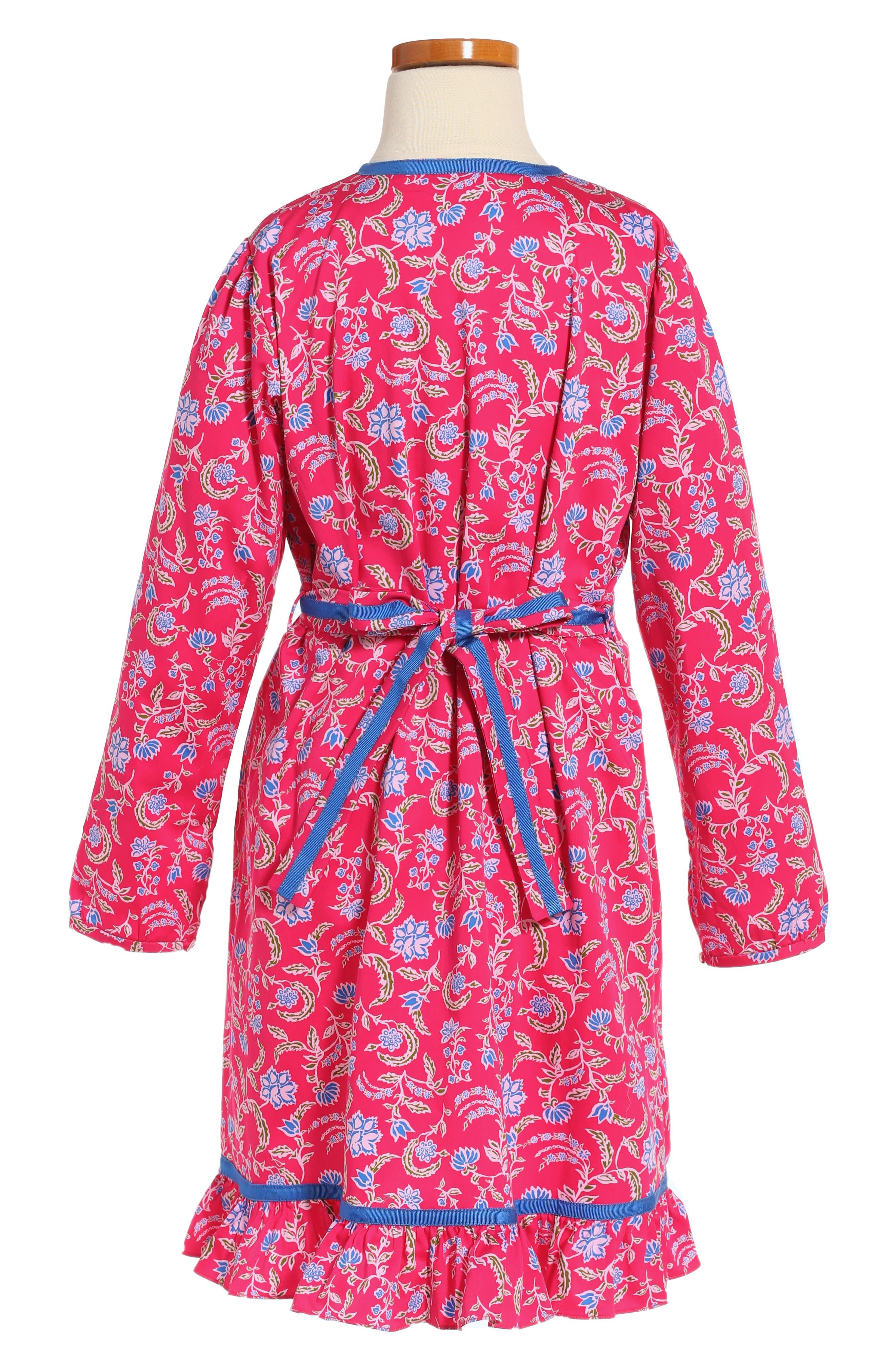 Alternate Image 2  - Oscar de la Renta Lotus Flower Dress (Big Girls)