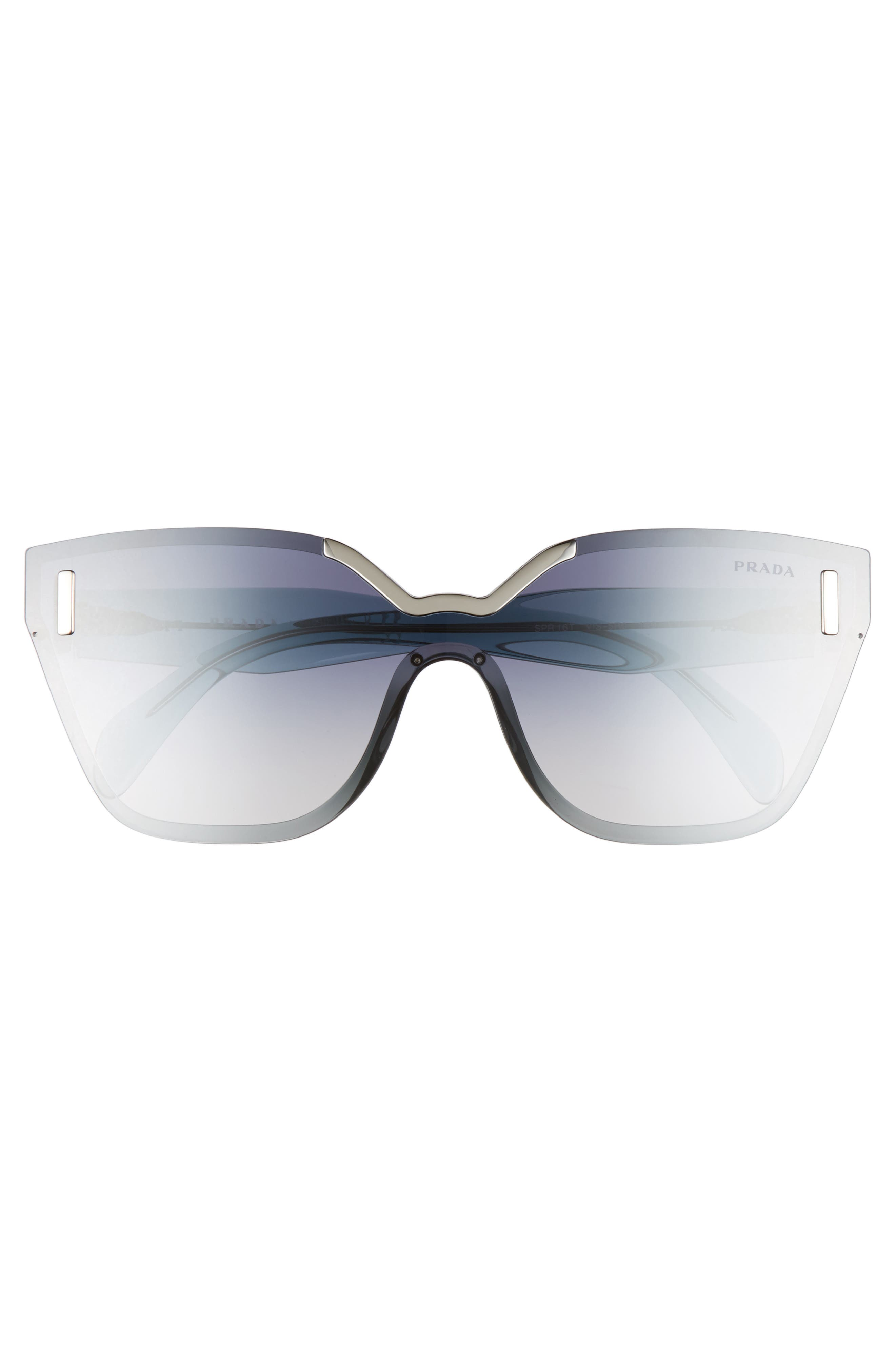 Alternate Image 2  - Prada 61mm Mirrored Shield Sunglasses