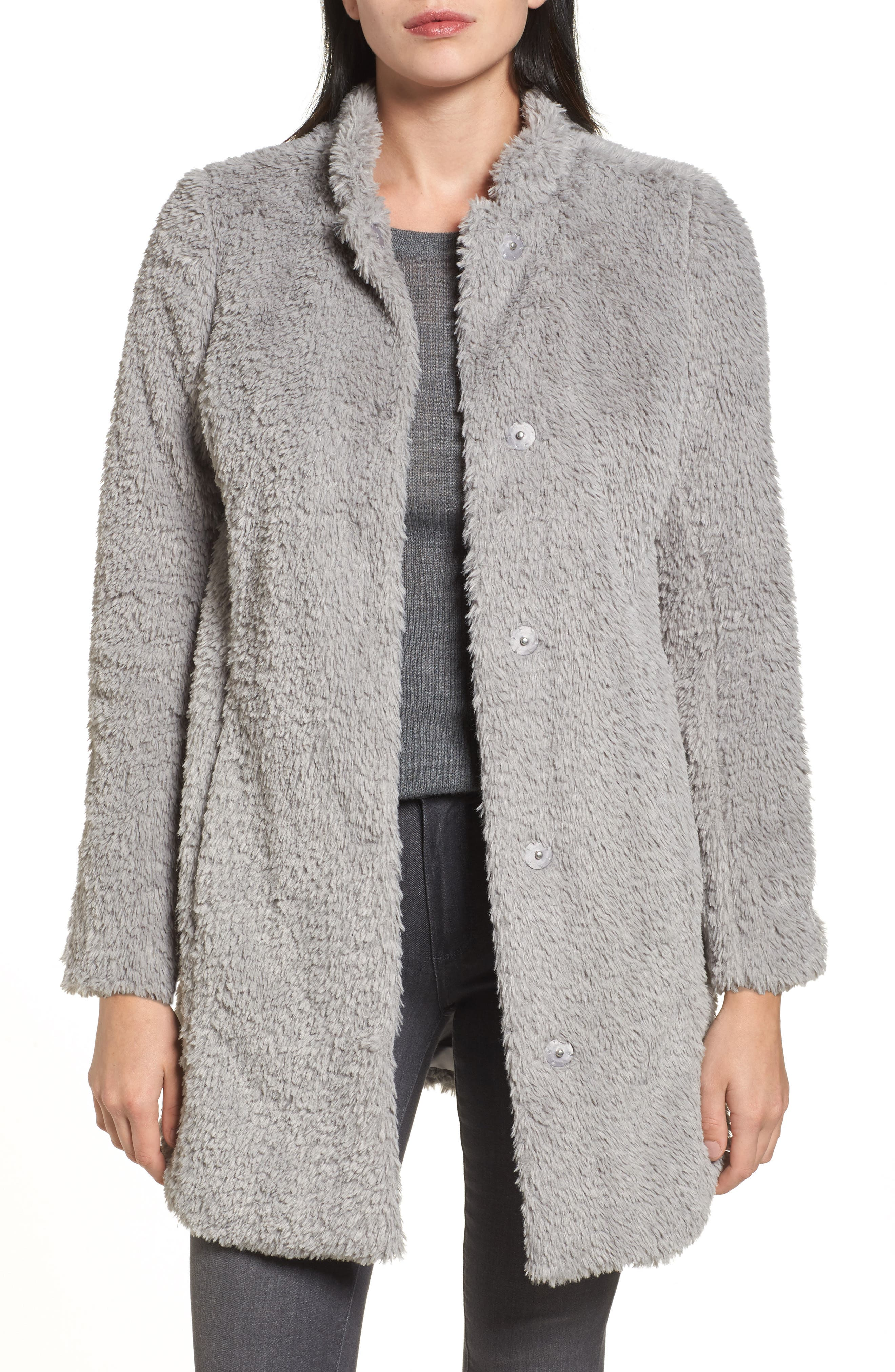 Main Image - Kenneth Cole New York Faux Fur Jacket