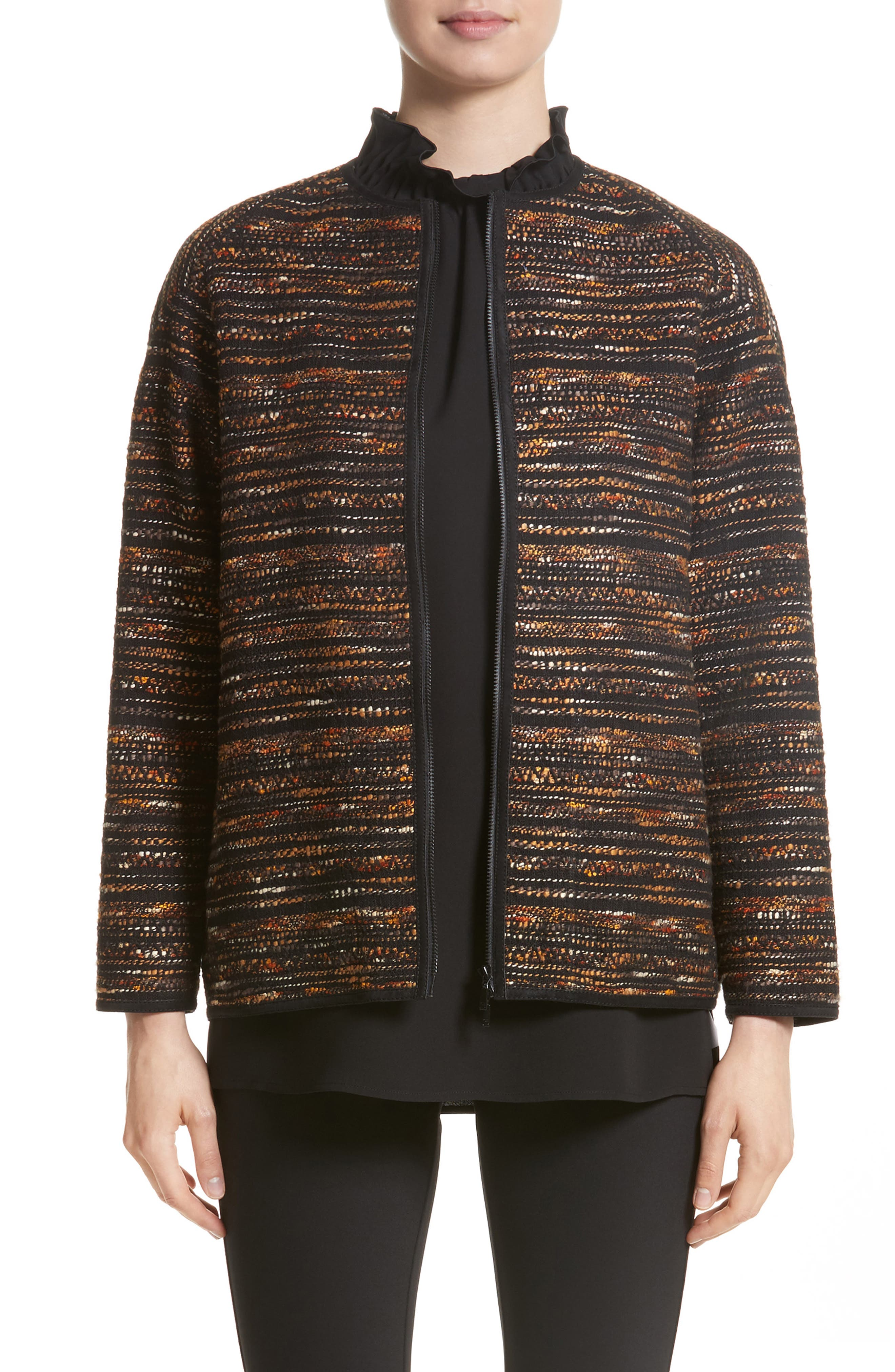 Alexa Tweed Jacket,                         Main,                         color, Black Multi