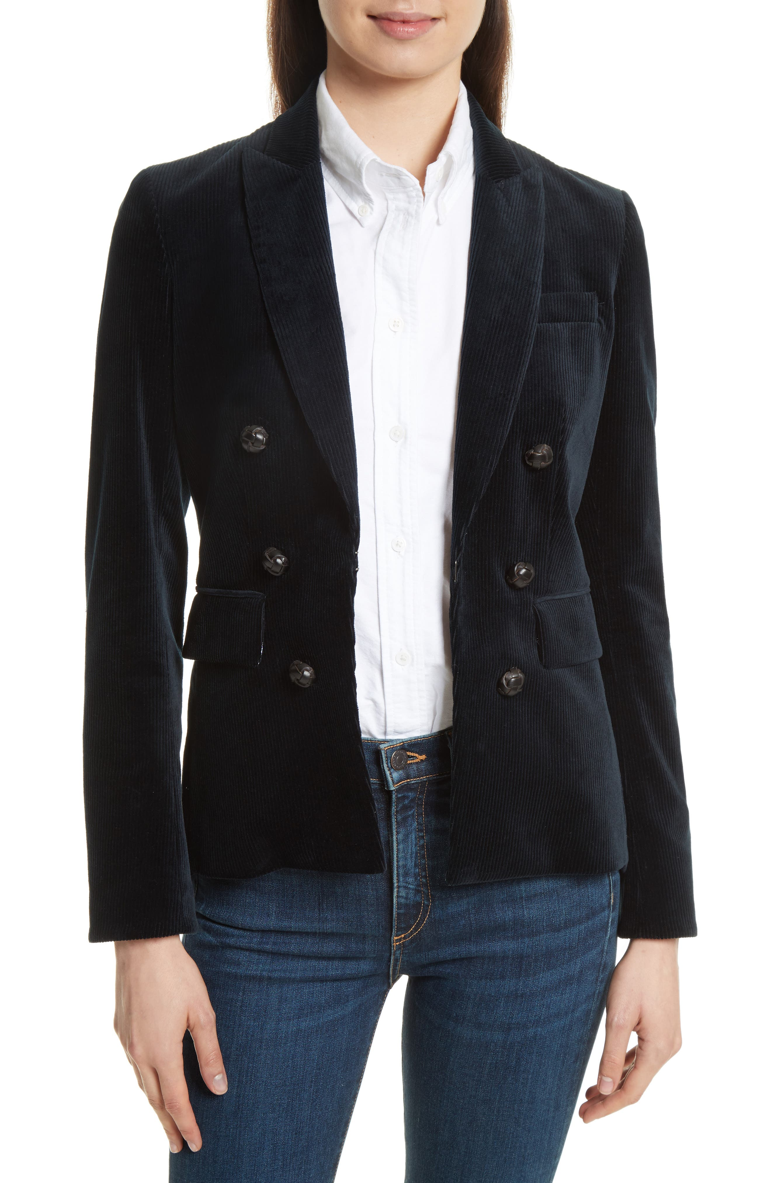 Cliff Corduroy Cutaway Jacket,                         Main,                         color, Charcoal