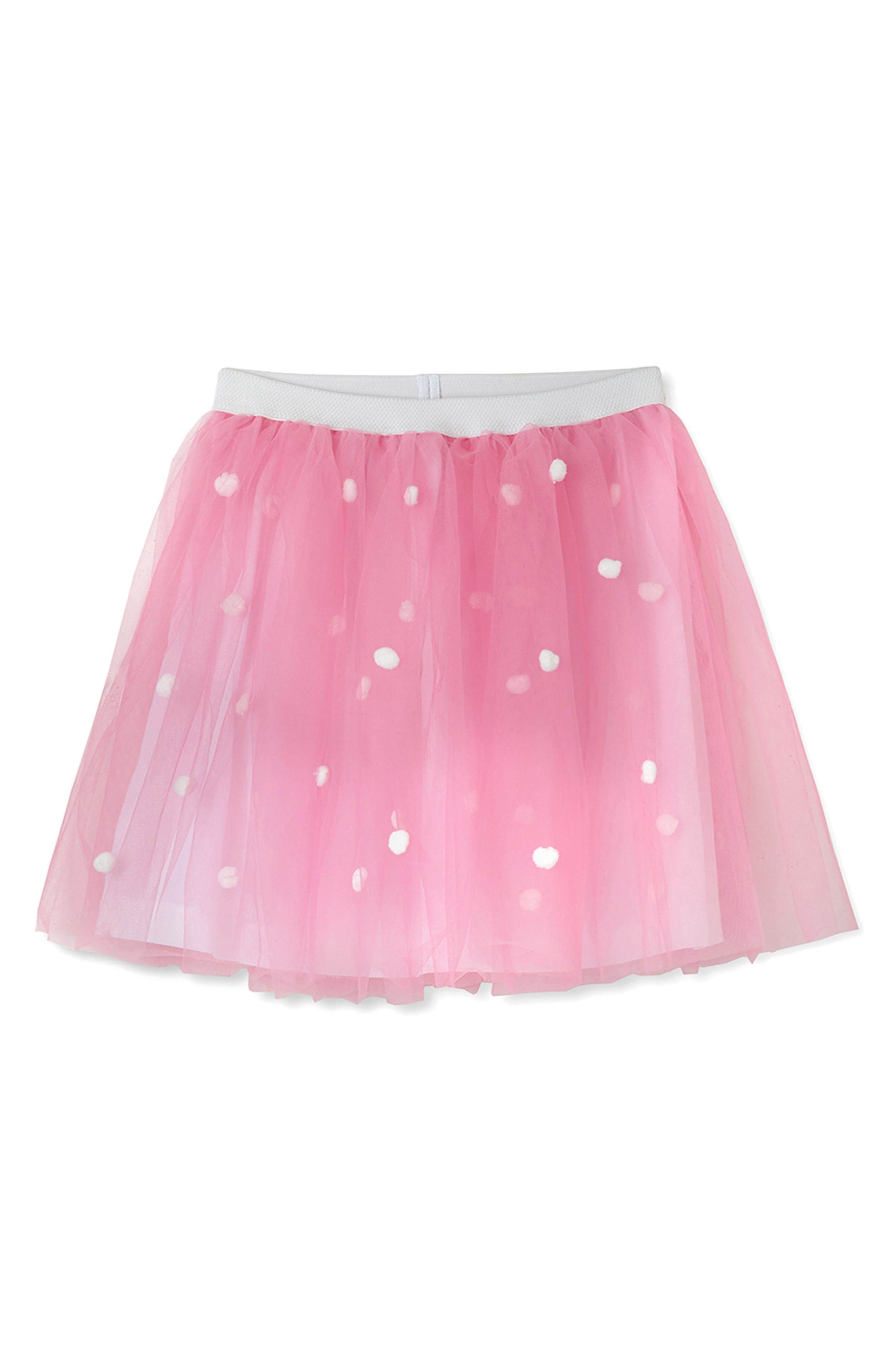 Tulle Skirt,                         Main,                         color, Pink