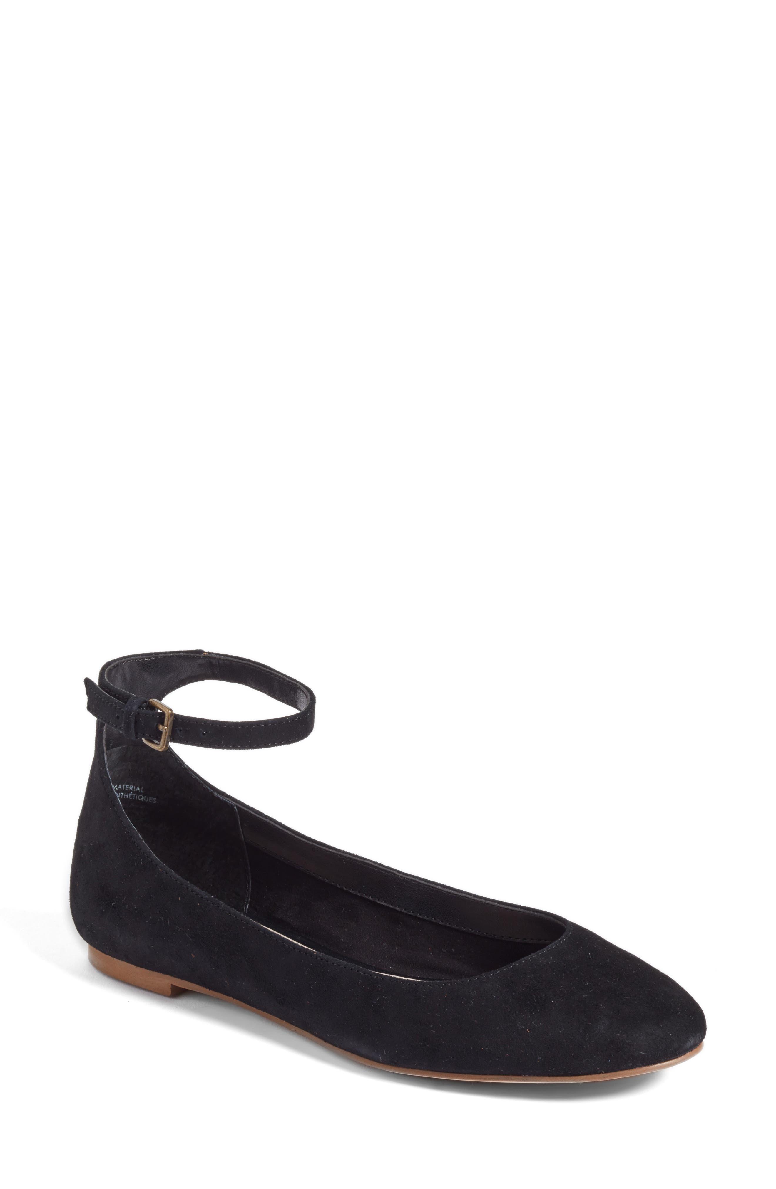 Treasure & Bond Jules Ankle Strap Ballet Flat (Women)