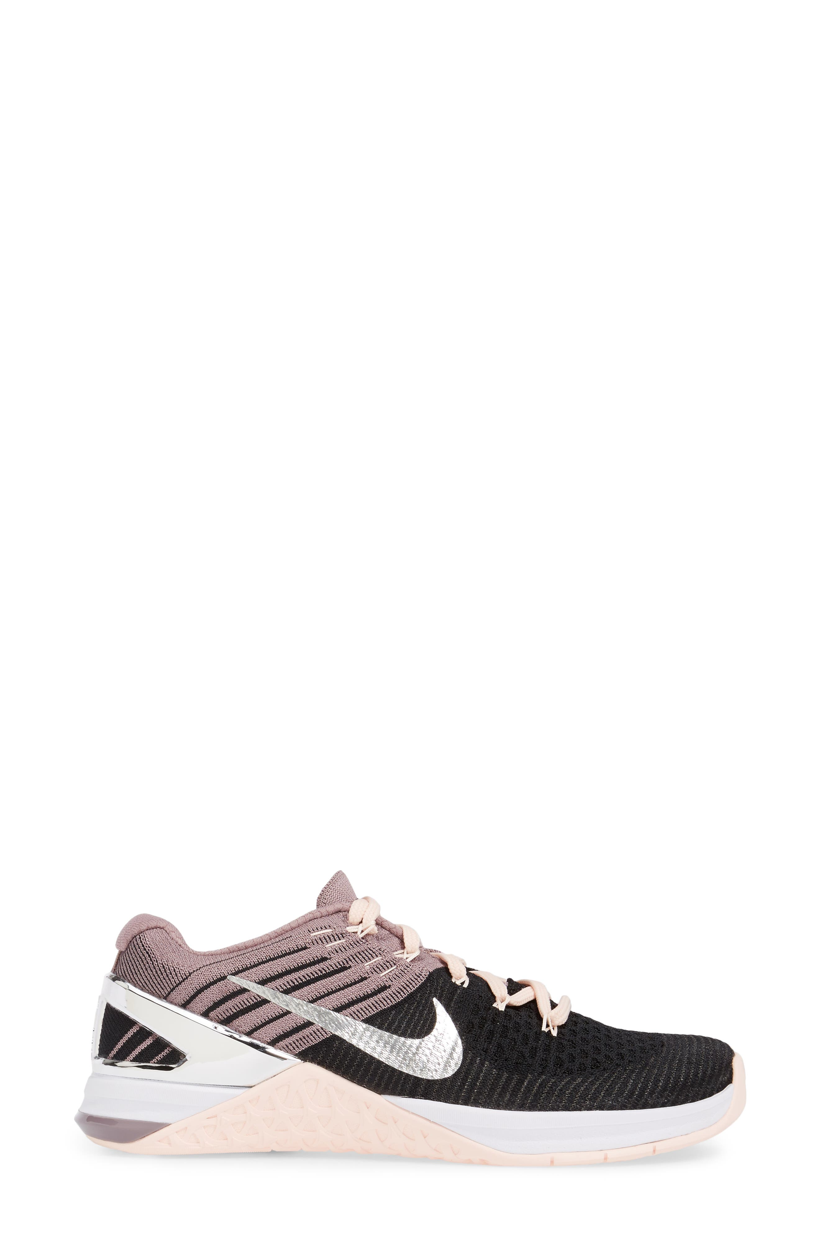 Alternate Image 3  - Nike Metcon DSX Flyknit Chrome Blush Training Shoe (Women)
